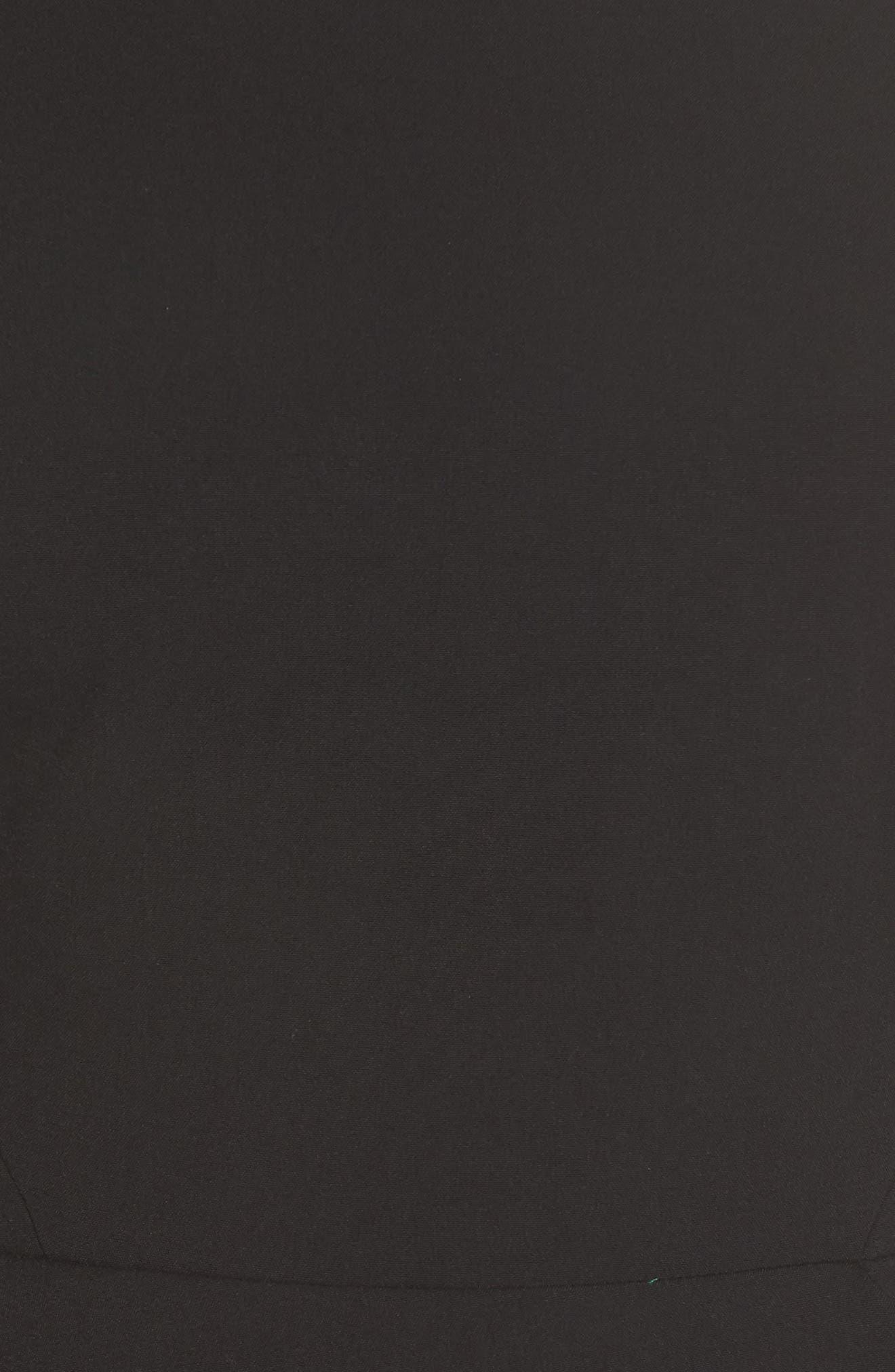 VINCE CAMUTO,                             Angled Ruffle Sheath Dress,                             Alternate thumbnail 6, color,                             BLACK