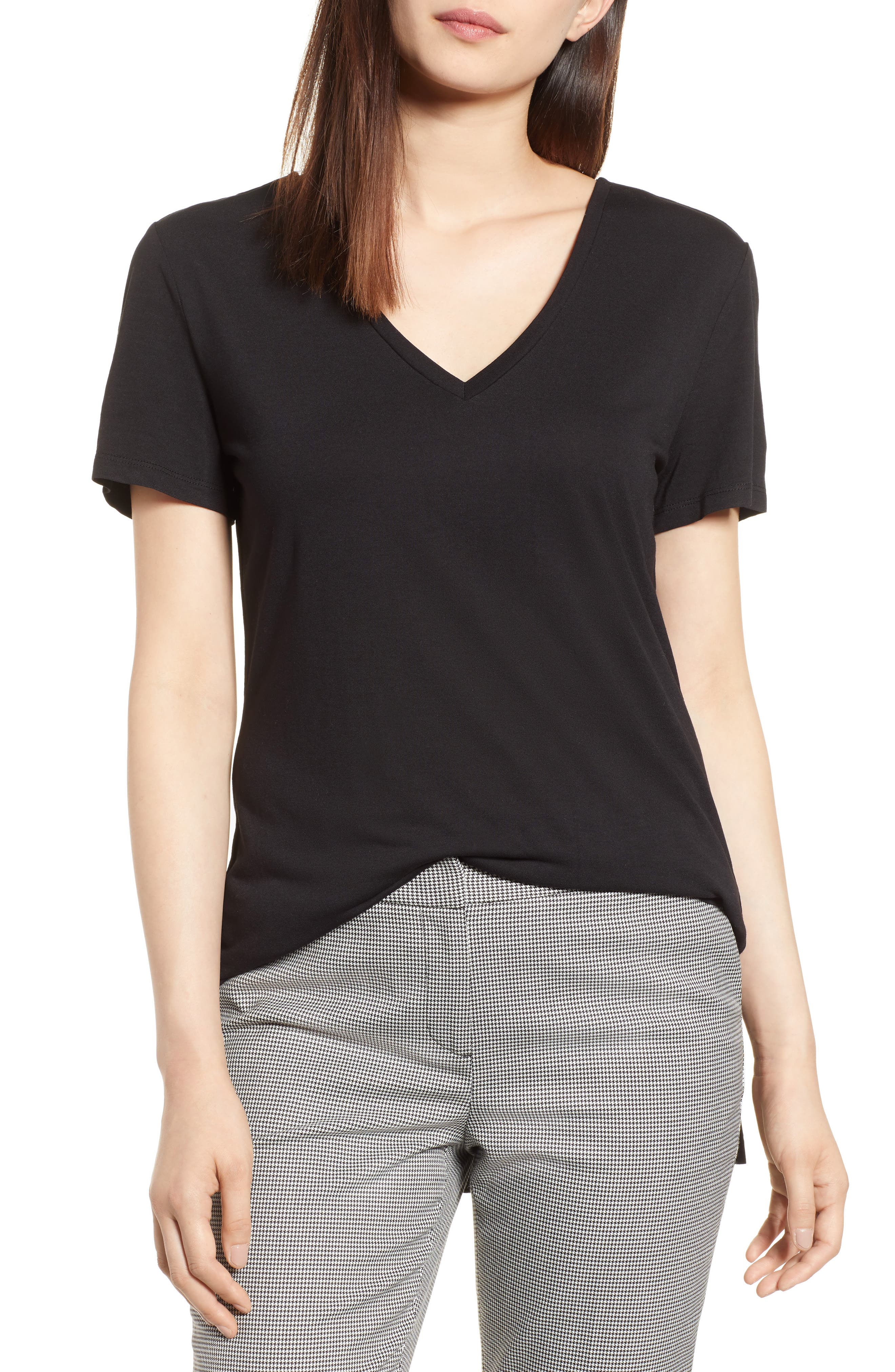 V-Neck Tunic Tee,                             Main thumbnail 6, color,