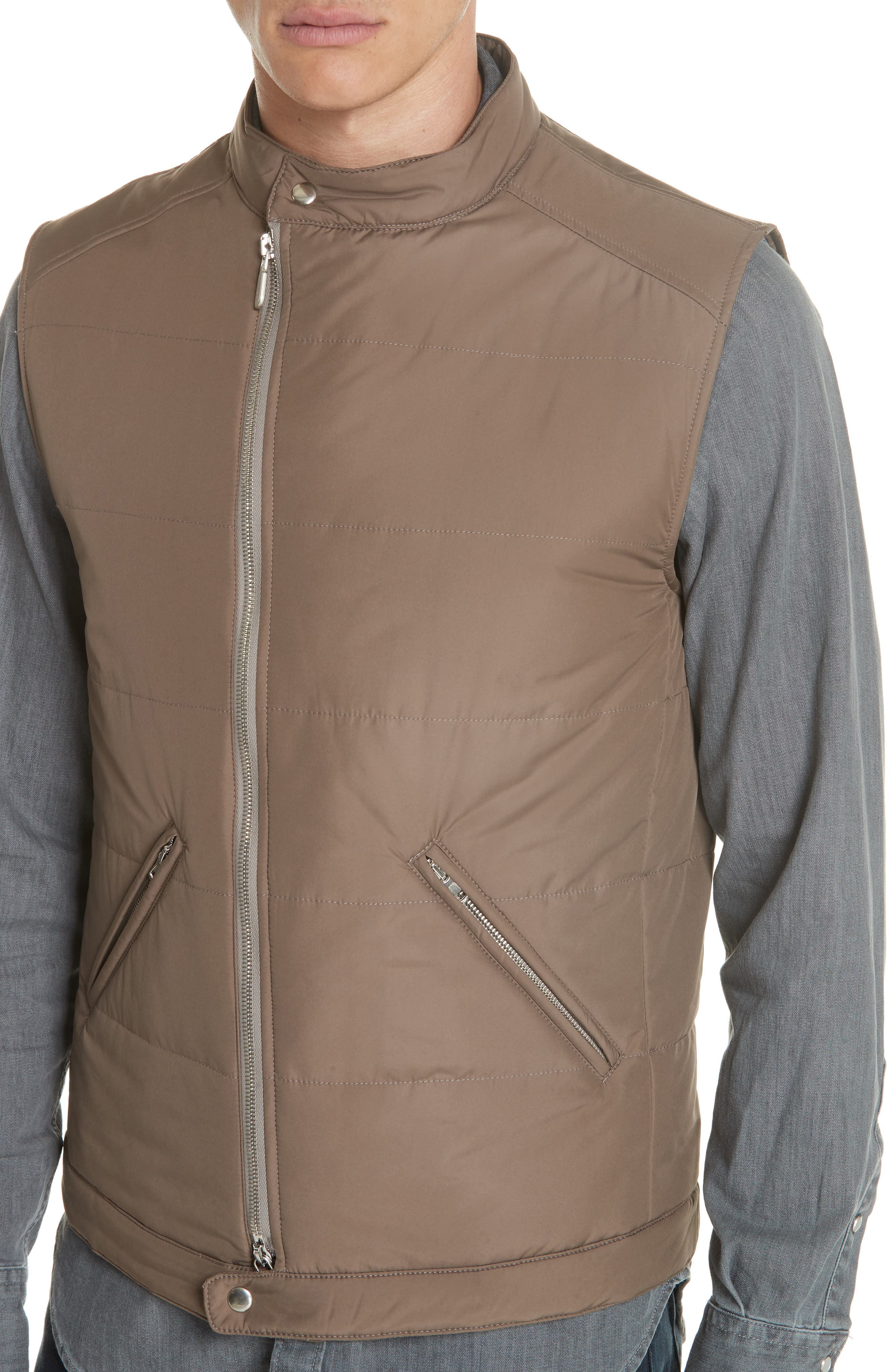 Quilted Vest,                             Alternate thumbnail 4, color,                             TAUPE
