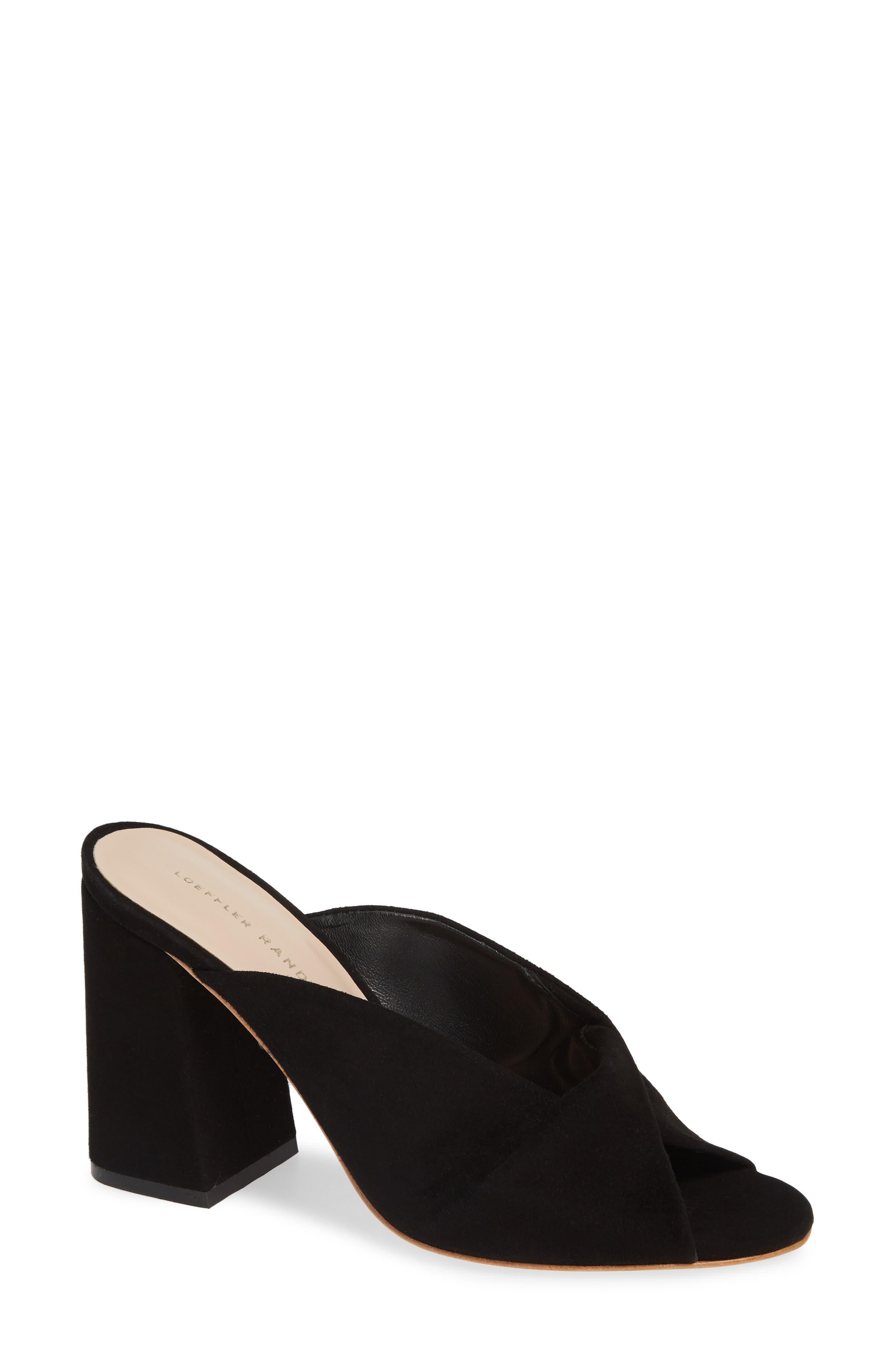 Laurel Slide Sandal,                             Main thumbnail 1, color,                             BLACK