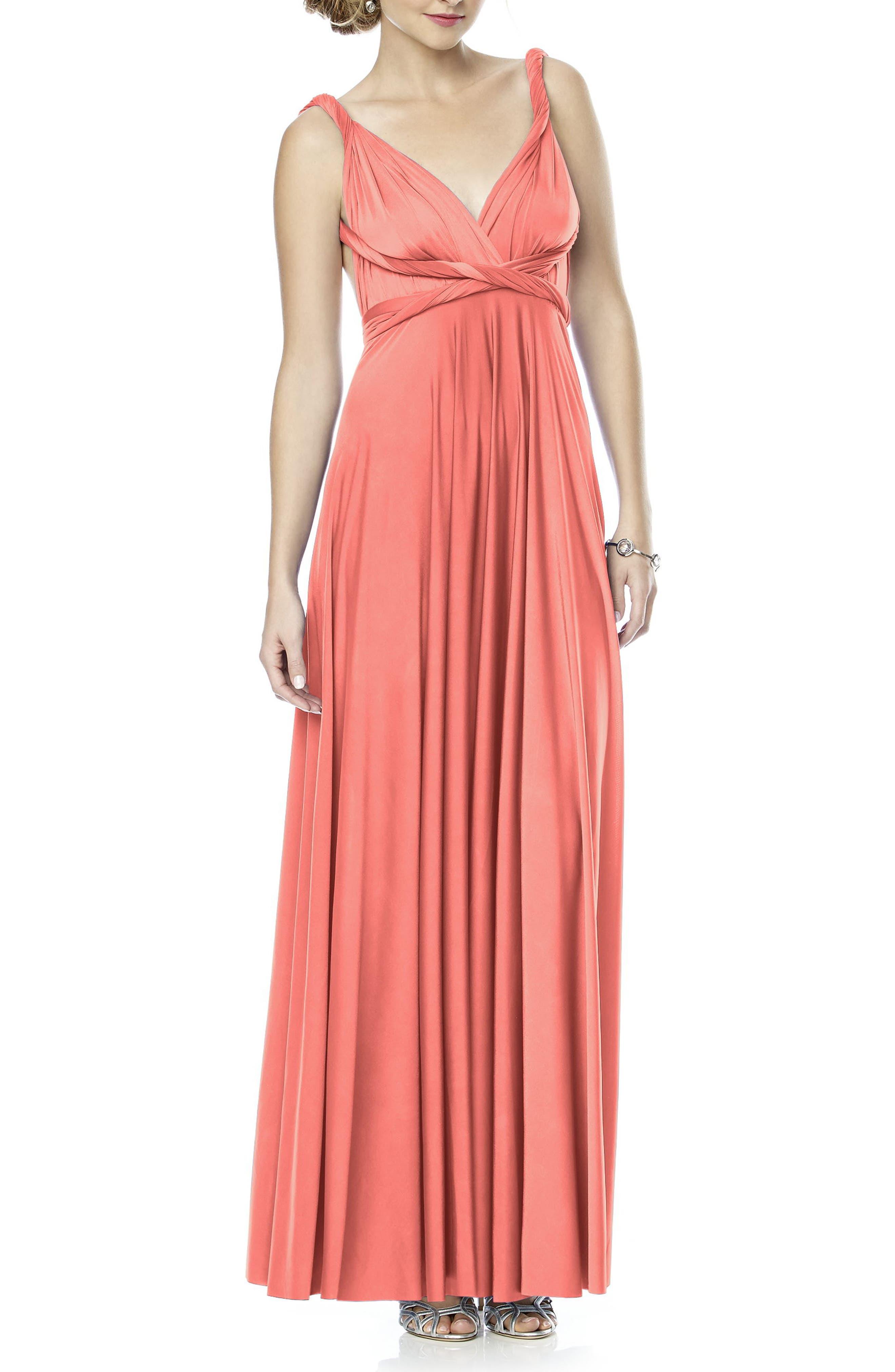 Convertible Wrap Tie Surplice Jersey Gown,                             Alternate thumbnail 36, color,