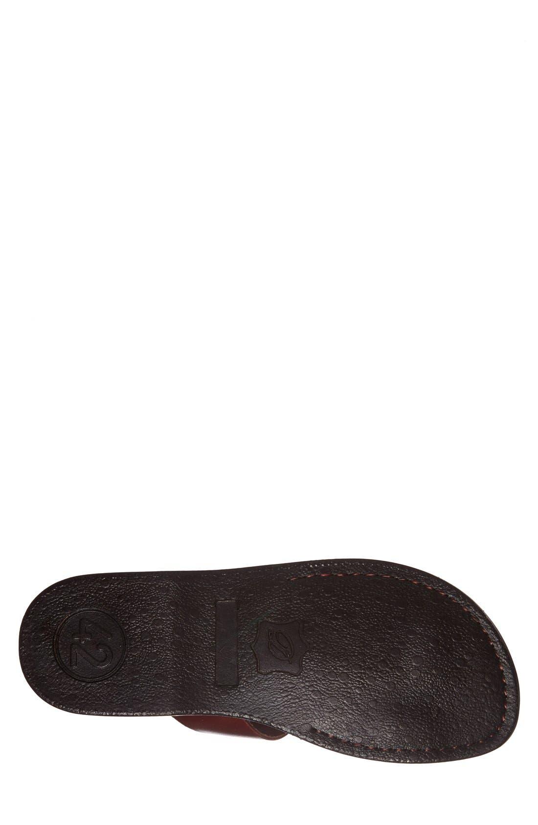'Zohar' Leather Sandal,                             Alternate thumbnail 4, color,                             BROWN