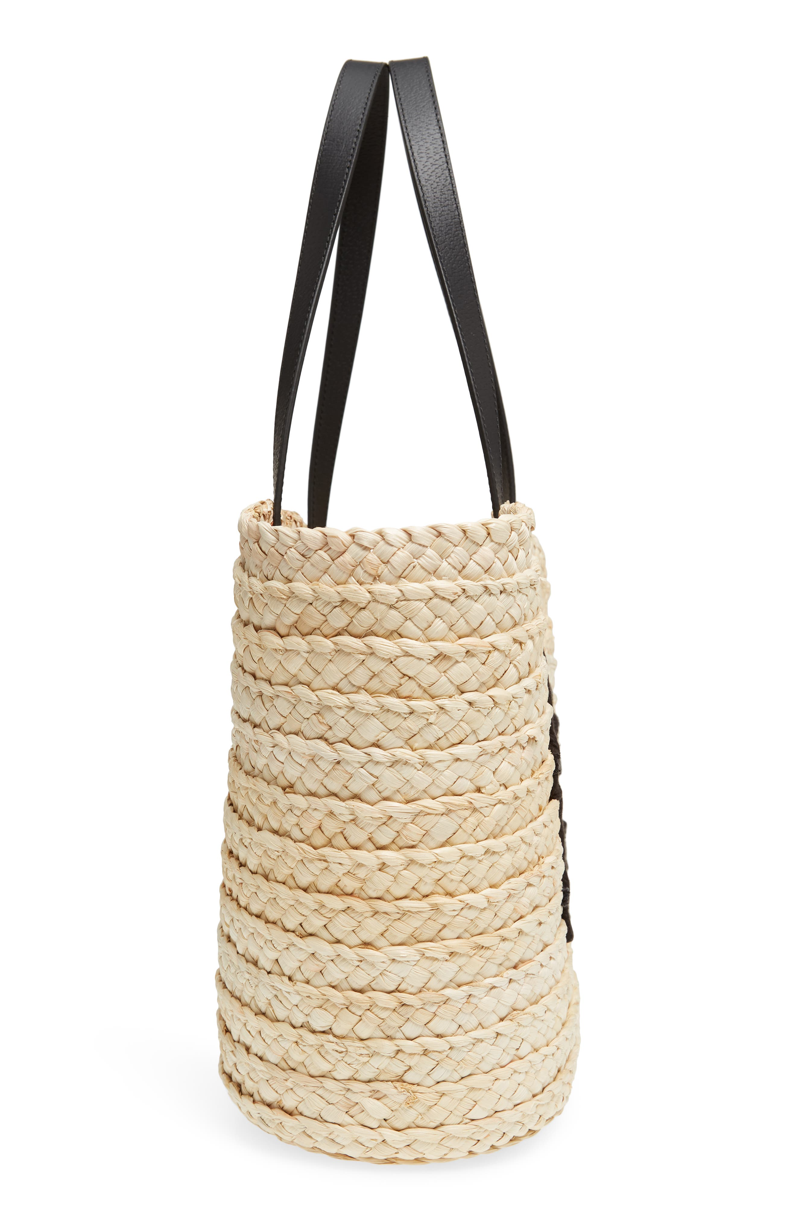picnic perfect bee my honey straw tote,                             Alternate thumbnail 5, color,                             900
