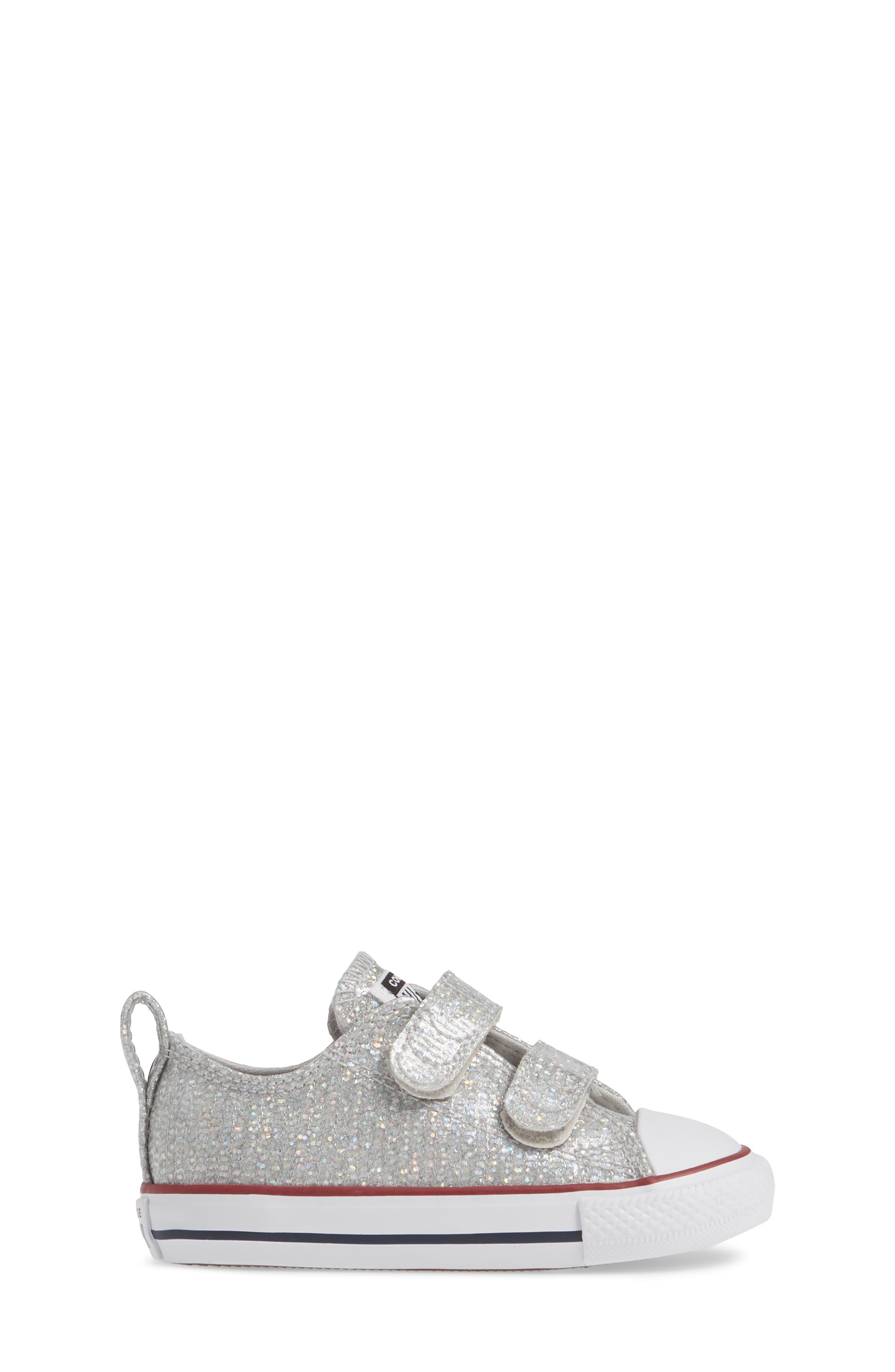 All Star<sup>®</sup> Seasonal Glitter Sneaker,                             Alternate thumbnail 3, color,                             050