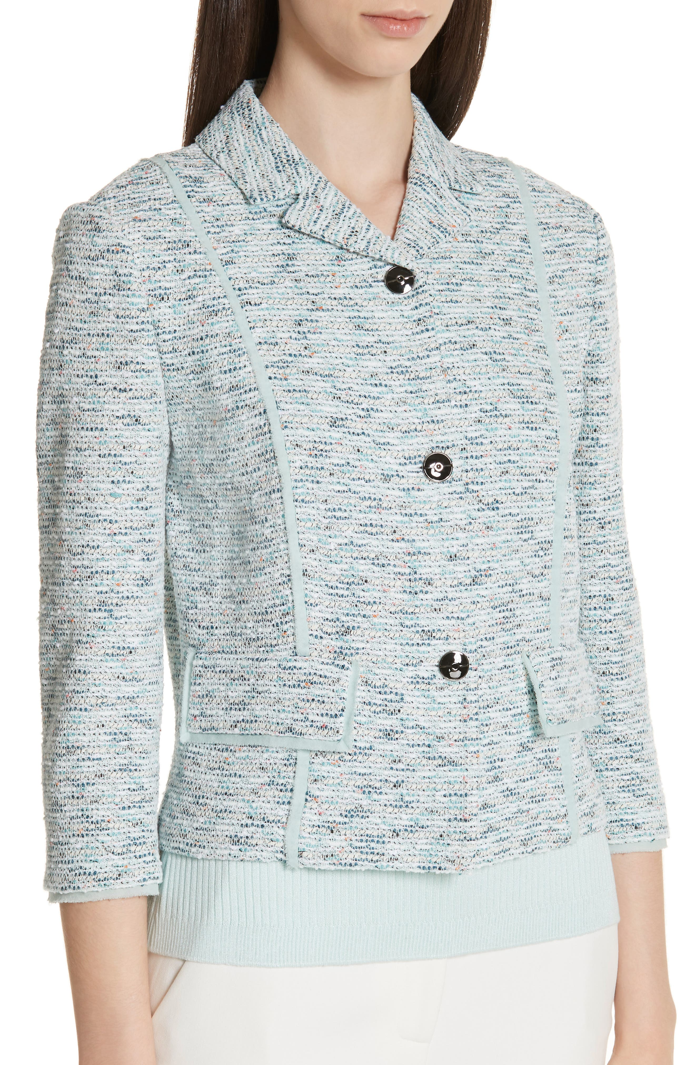 ST. JOHN COLLECTION,                             Alessandra Knit Jacket,                             Alternate thumbnail 4, color,                             OPAL MULTI
