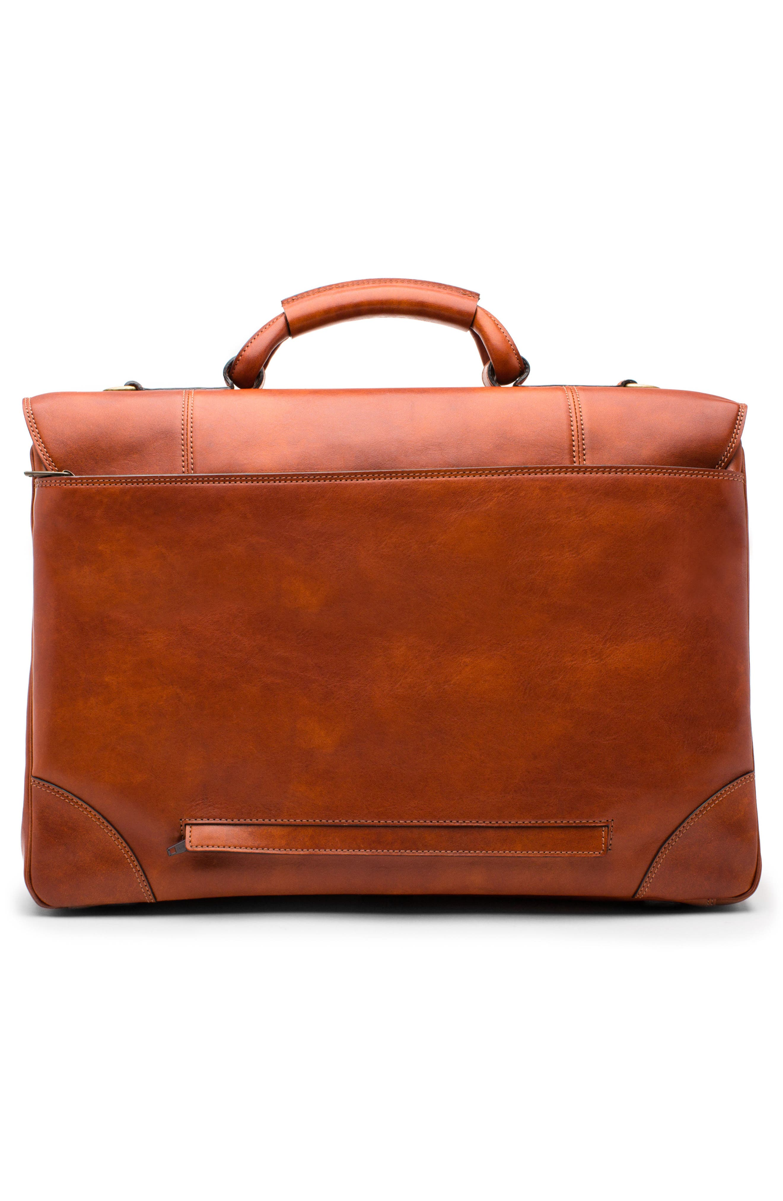 Dolce Leather Briefcase,                             Alternate thumbnail 2, color,                             AMBER