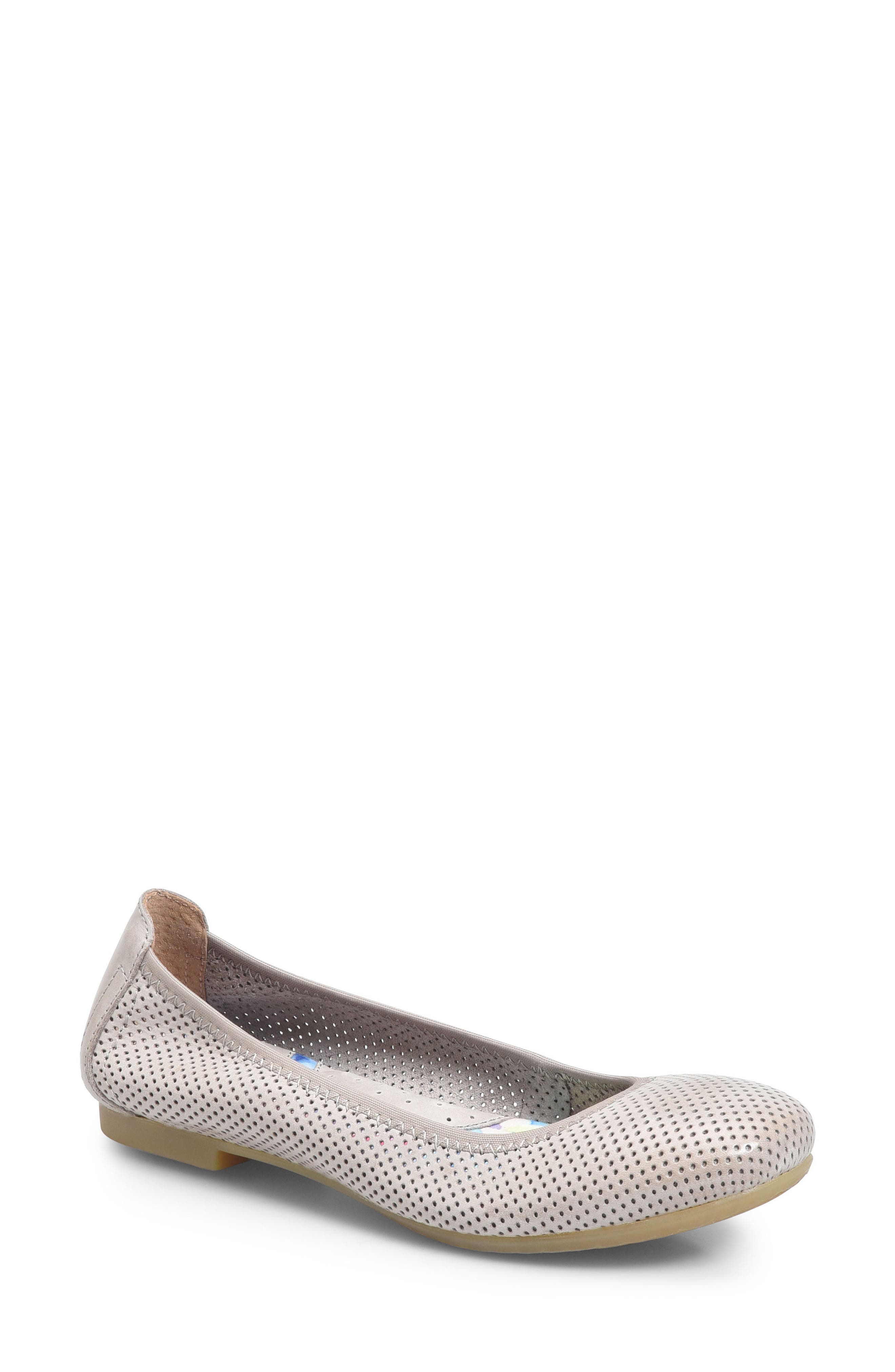 Julianne Perforated Flat,                             Main thumbnail 2, color,