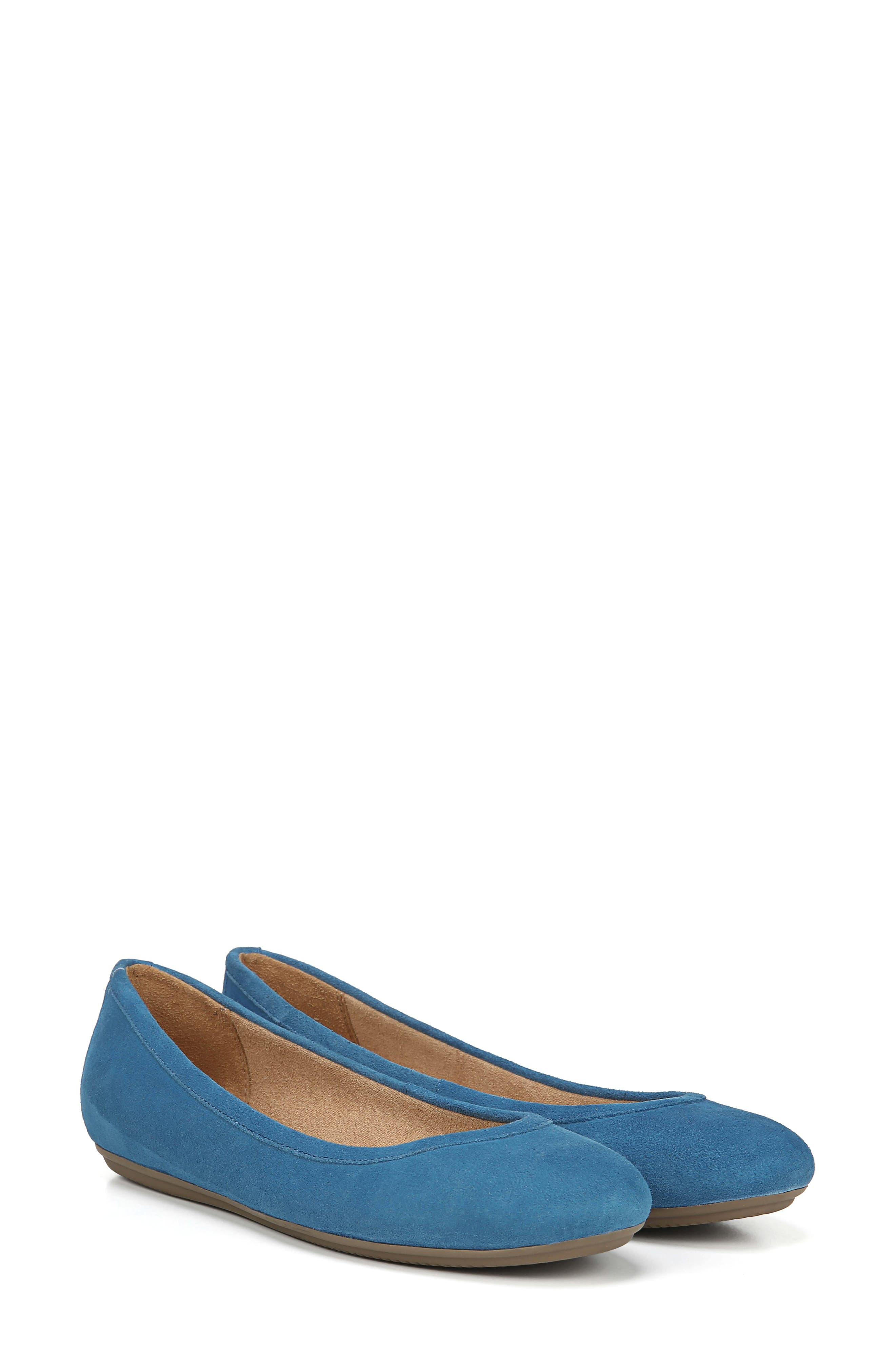 Brittany Flat,                             Alternate thumbnail 9, color,                             ADMIRAL BLUE LEATHER