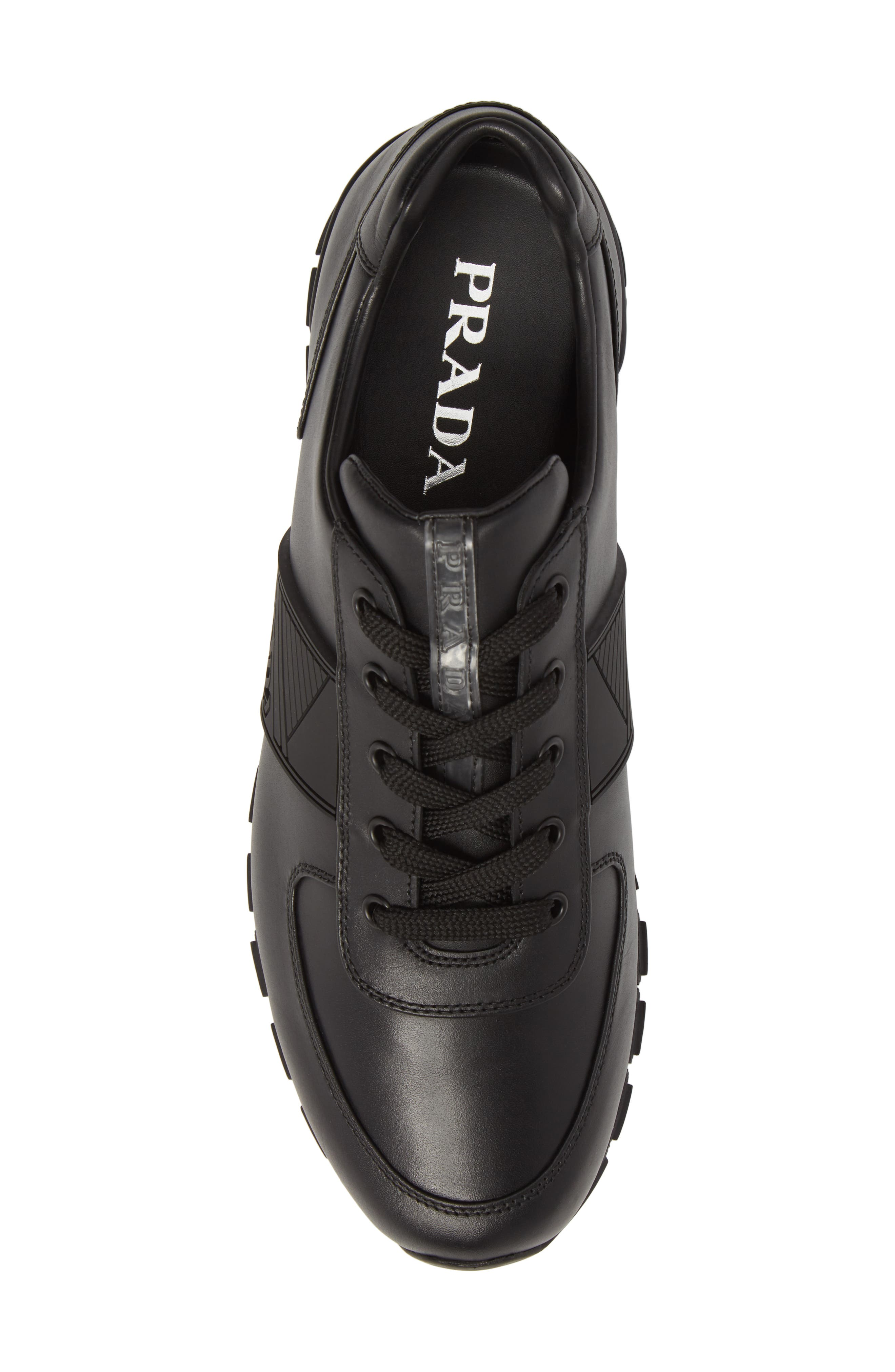 PRADA,                             Linea Rossa Sneaker,                             Alternate thumbnail 5, color,                             001