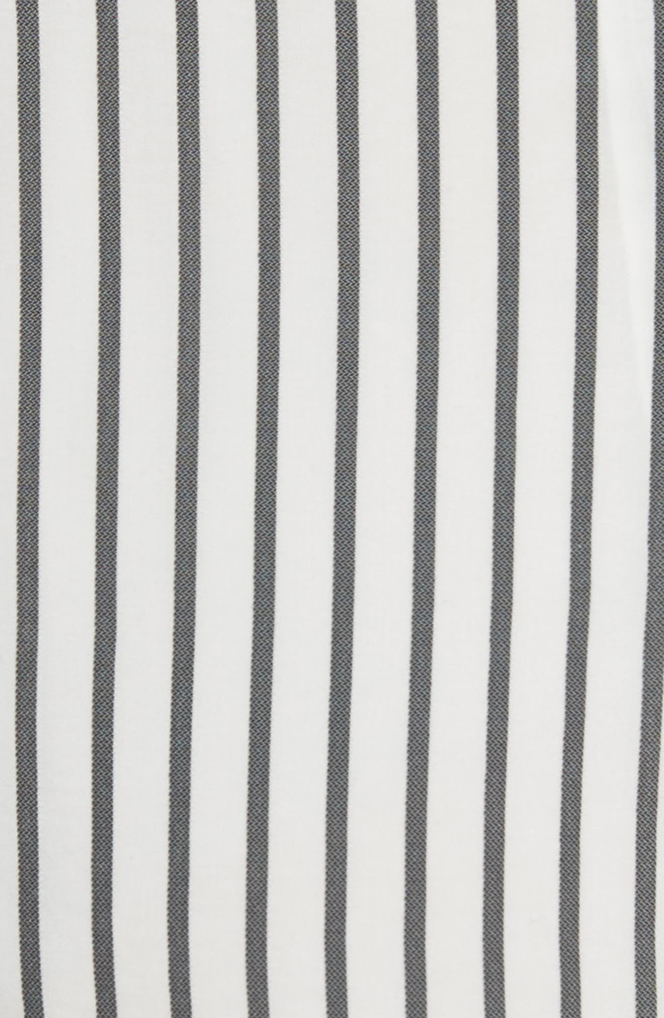 Stripe Tie Waist Romper,                             Alternate thumbnail 5, color,