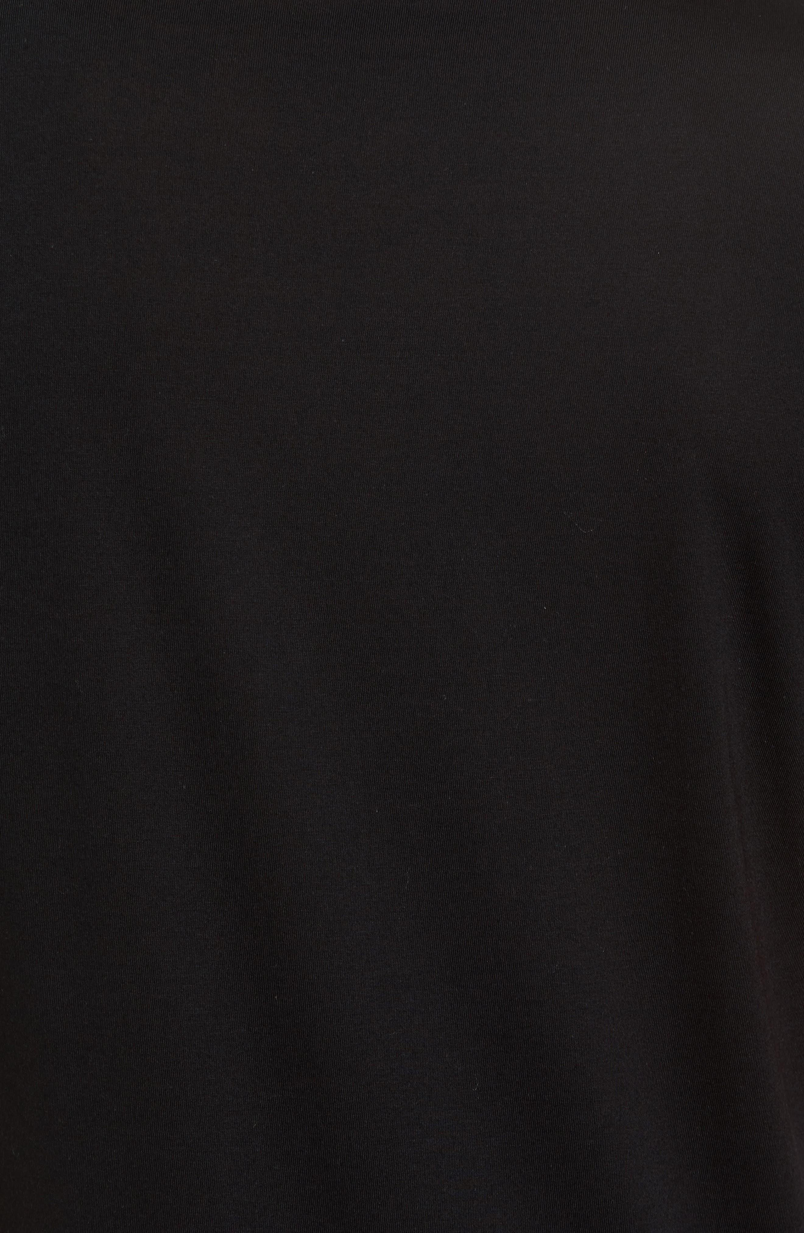 Double Layer T-Shirt,                             Alternate thumbnail 5, color,                             001