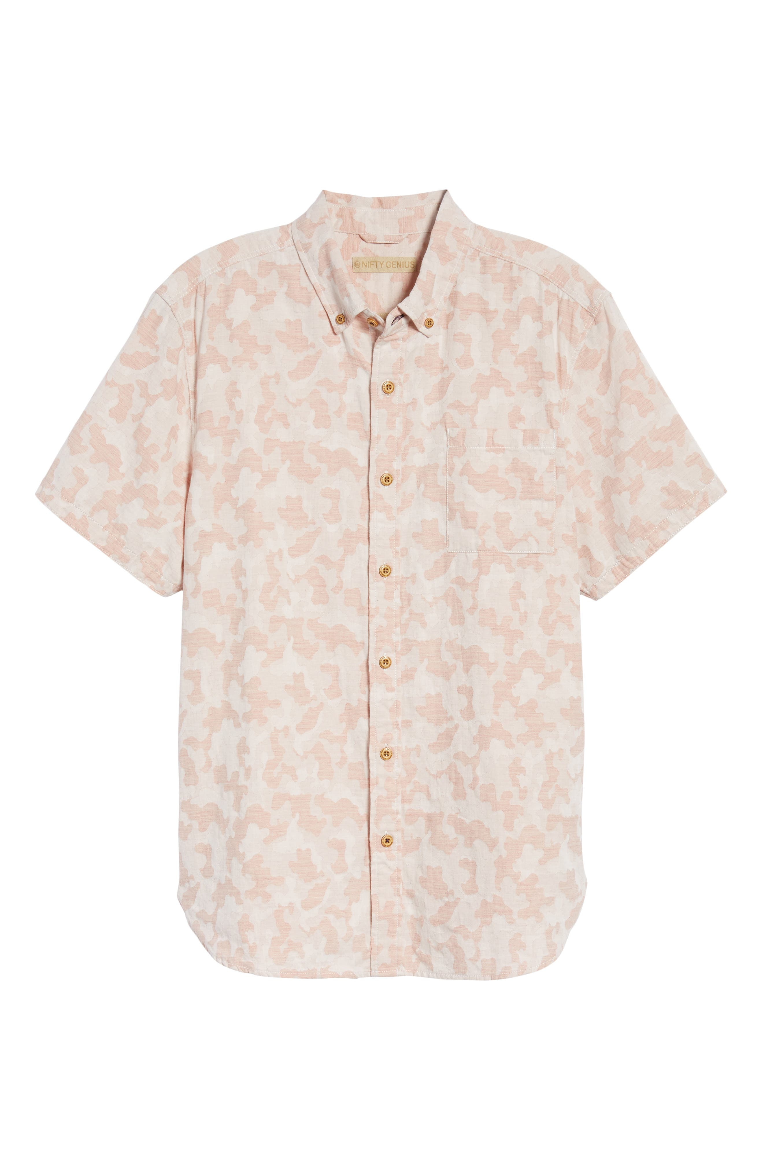 Truman Slim Fit Short Sleeve Sport Shirt,                             Alternate thumbnail 6, color,                             650