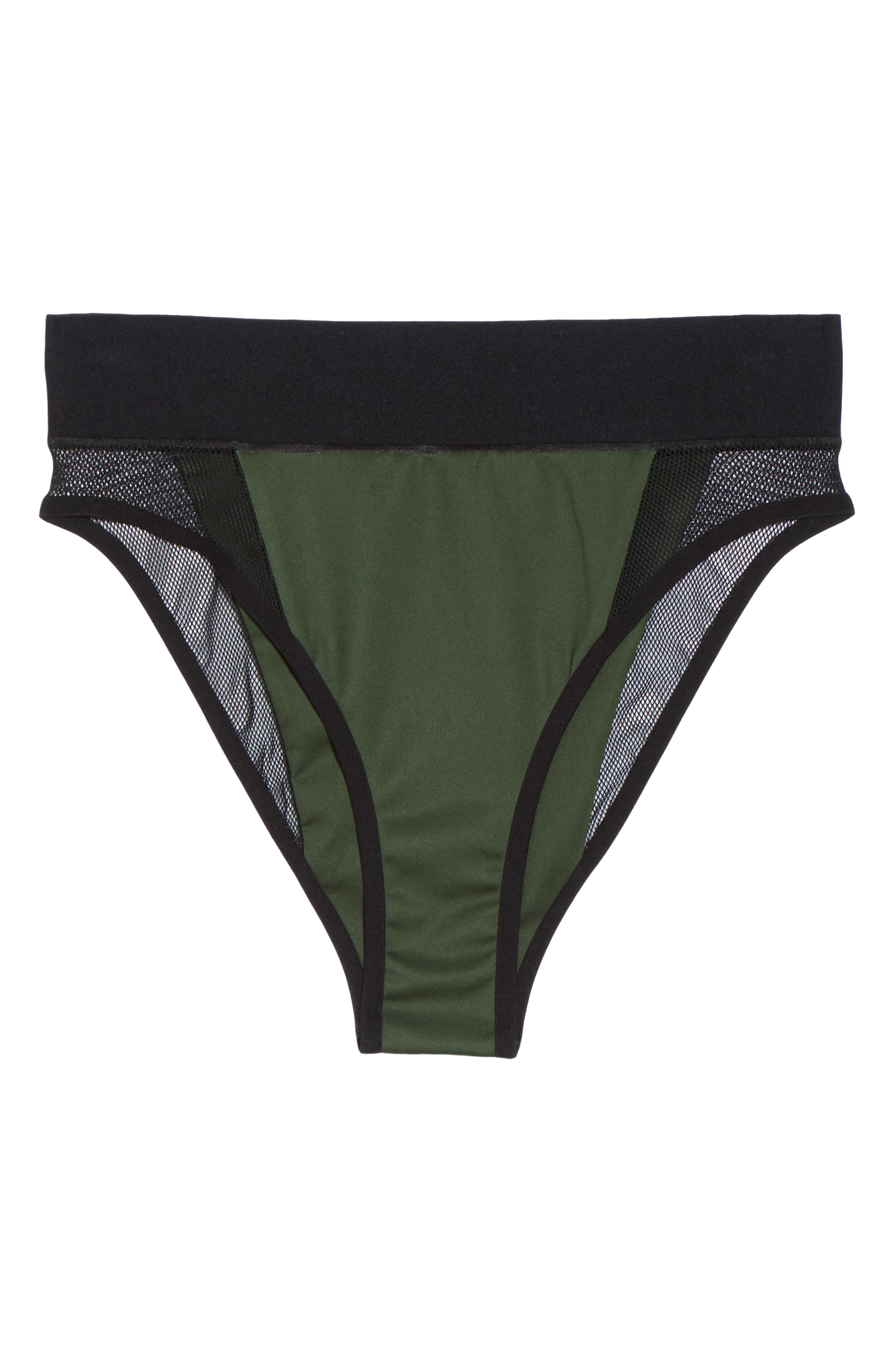 Reef Sport Mesh High-Waist Bikini Bottoms,                             Alternate thumbnail 6, color,                             302