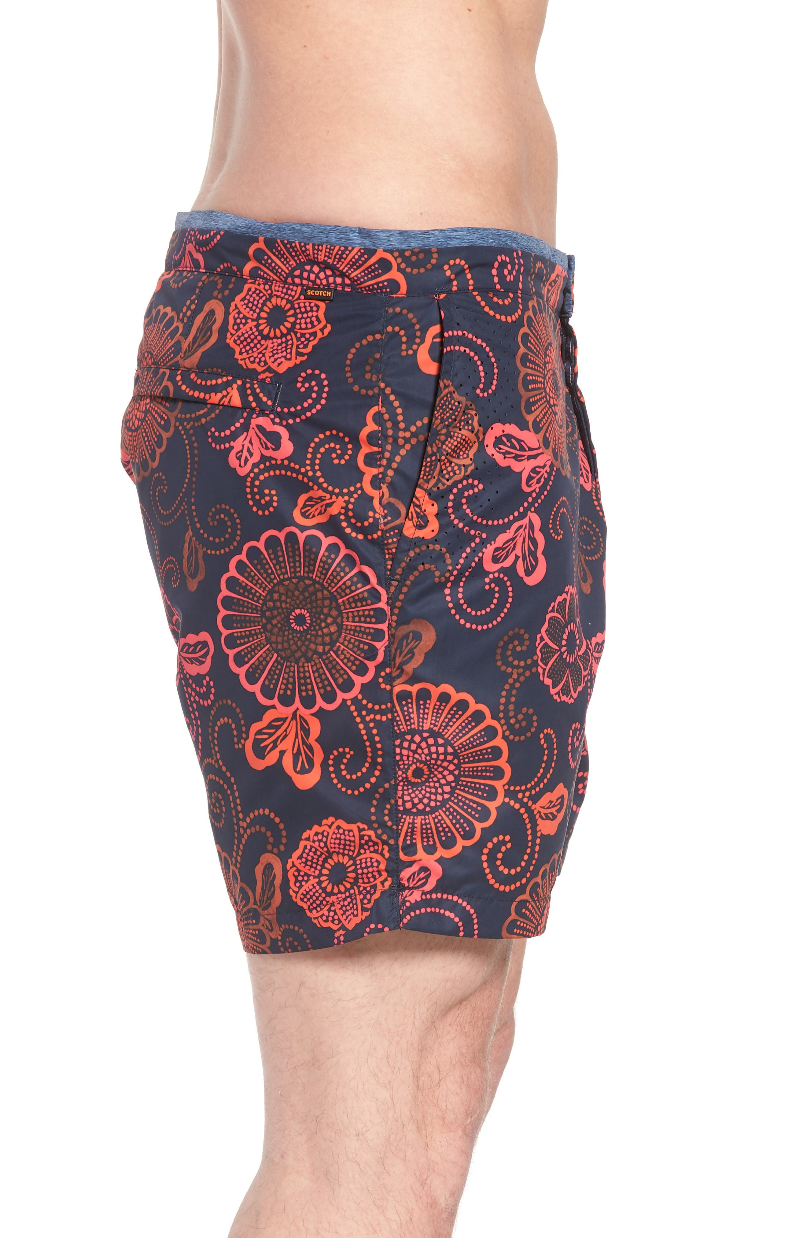 Print Mélange Board Shorts,                             Alternate thumbnail 9, color,