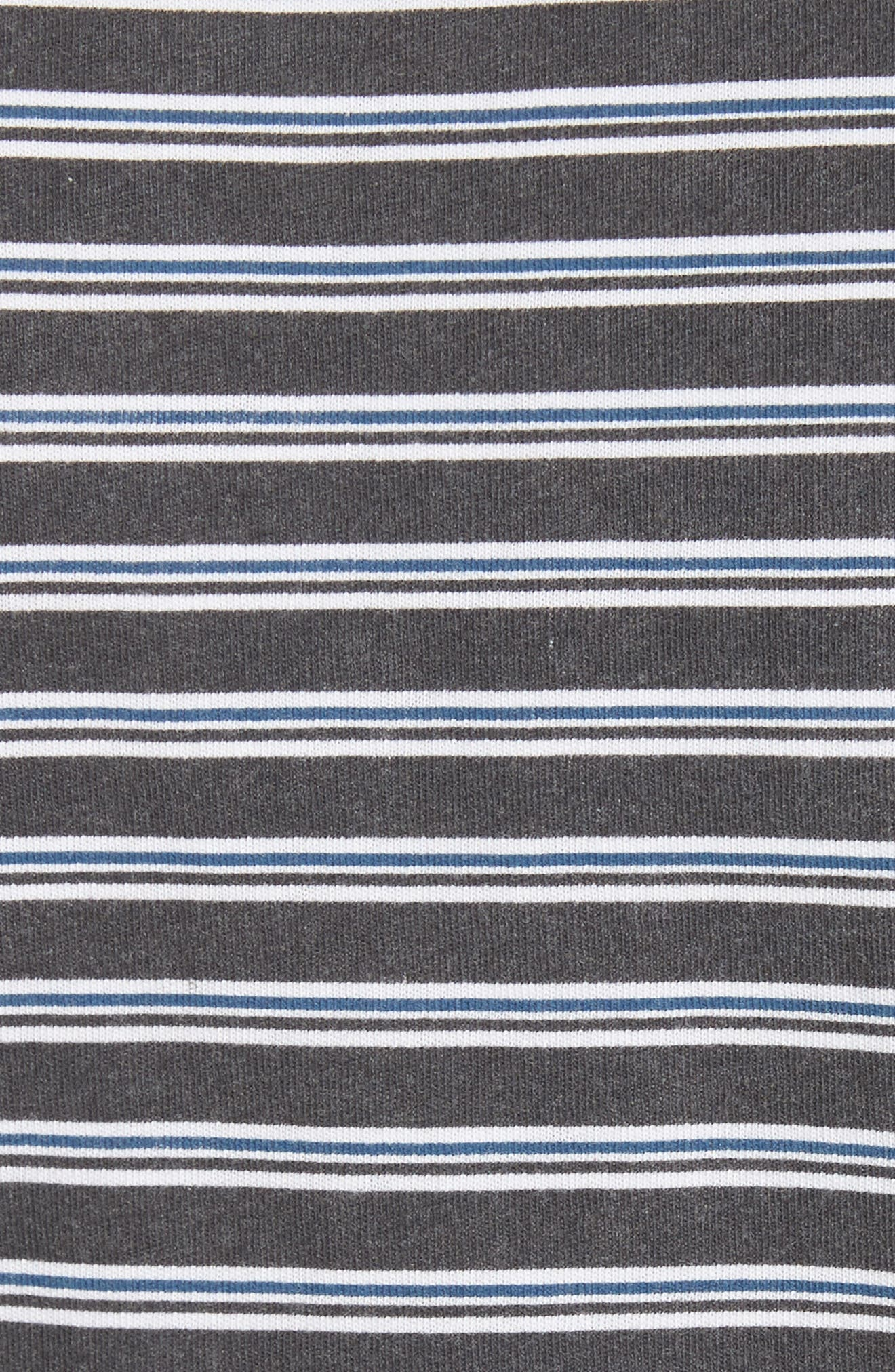 Ruched Stripe Cotton Tee,                             Alternate thumbnail 5, color,