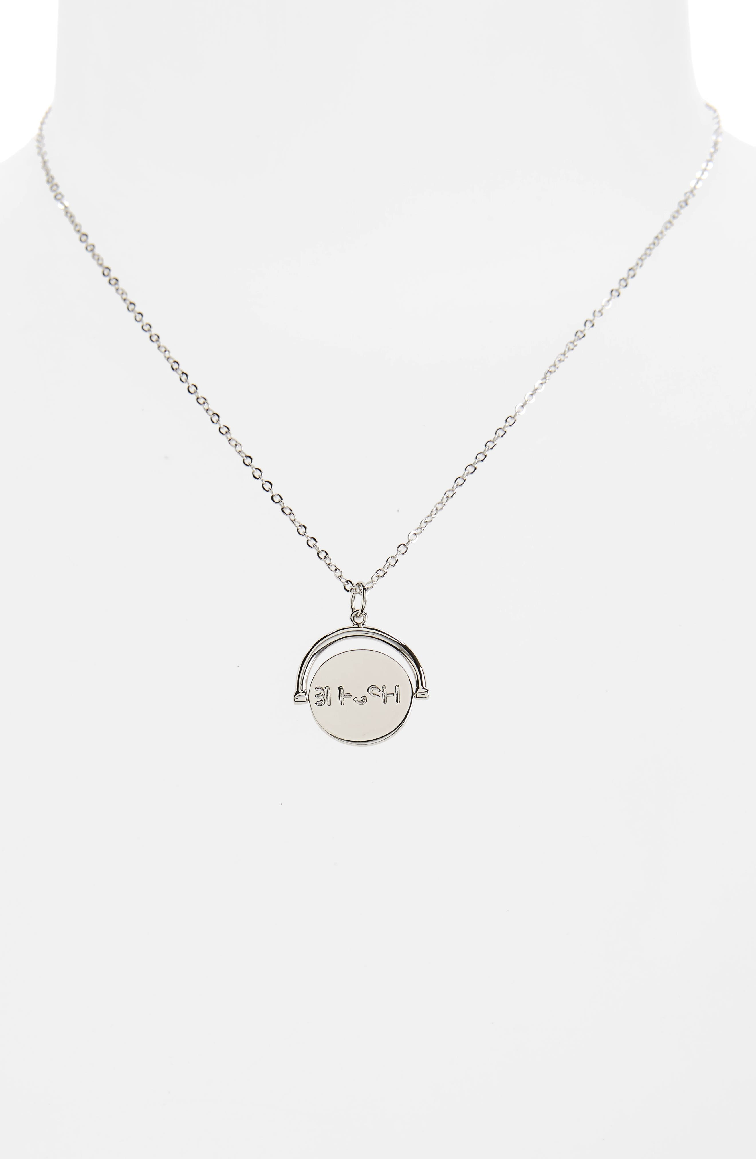 Blessed Love Code Charm Necklace,                             Alternate thumbnail 13, color,