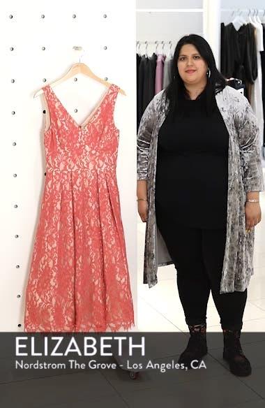 V-Neck Lace Midi Dress, sales video thumbnail