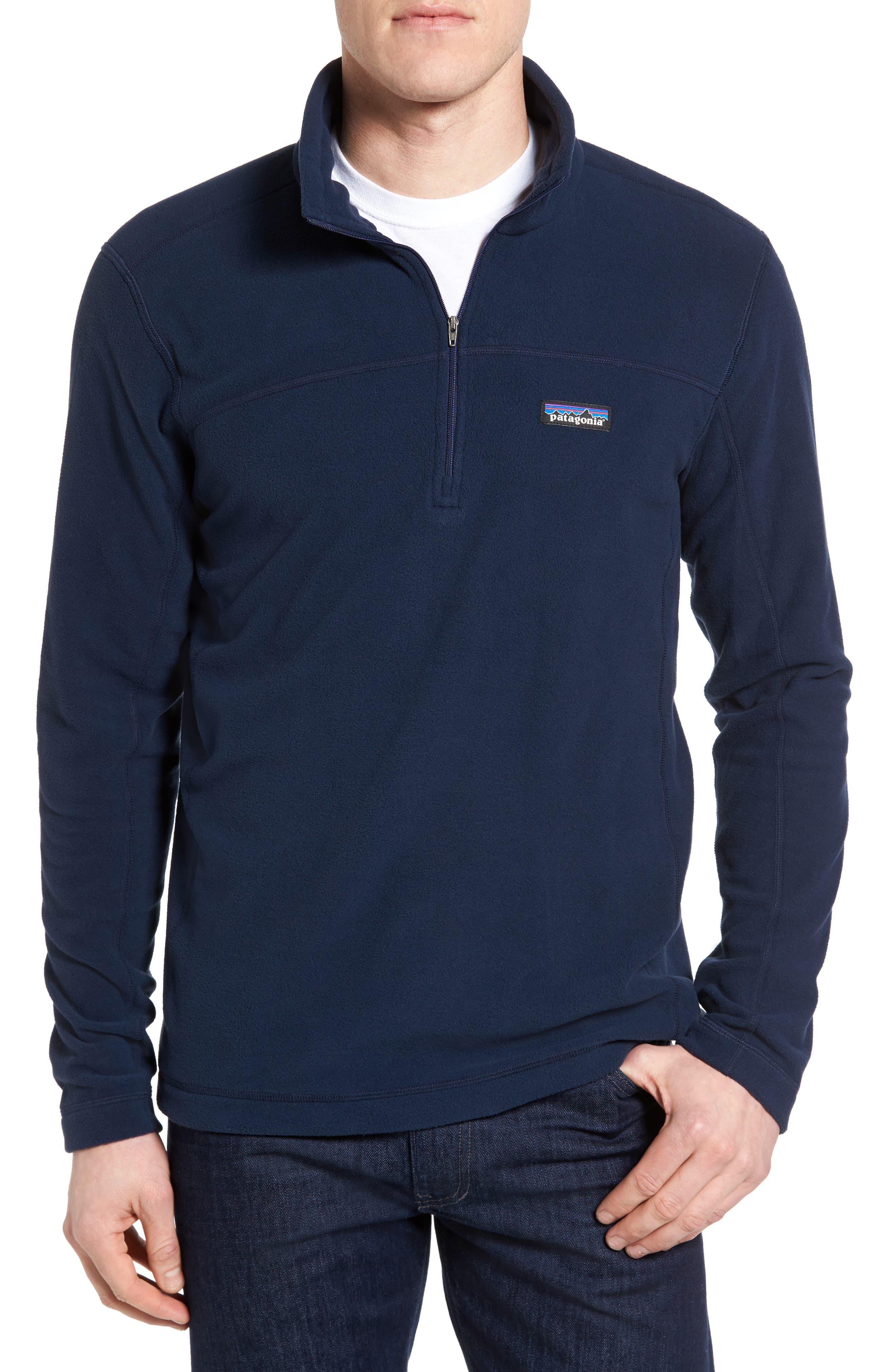 Fleece Pullover, Main, color, BLUE