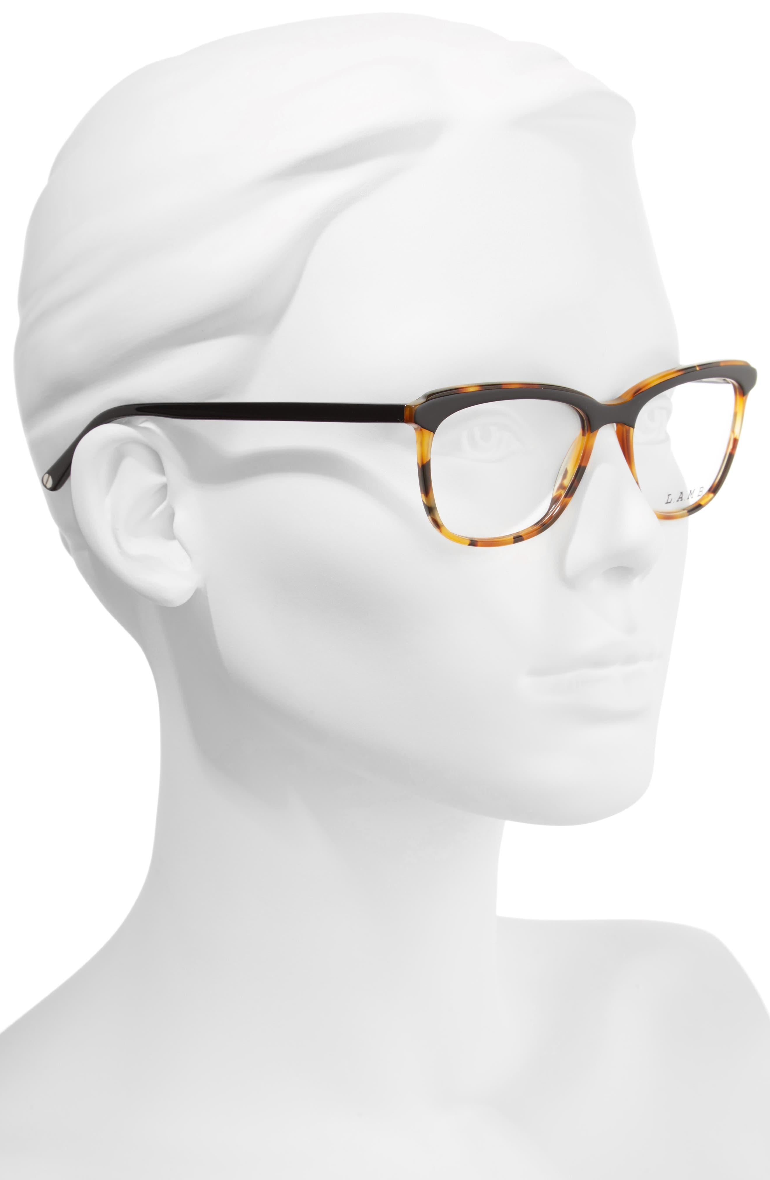 51mm Optical Square Glasses,                             Alternate thumbnail 2, color,                             001