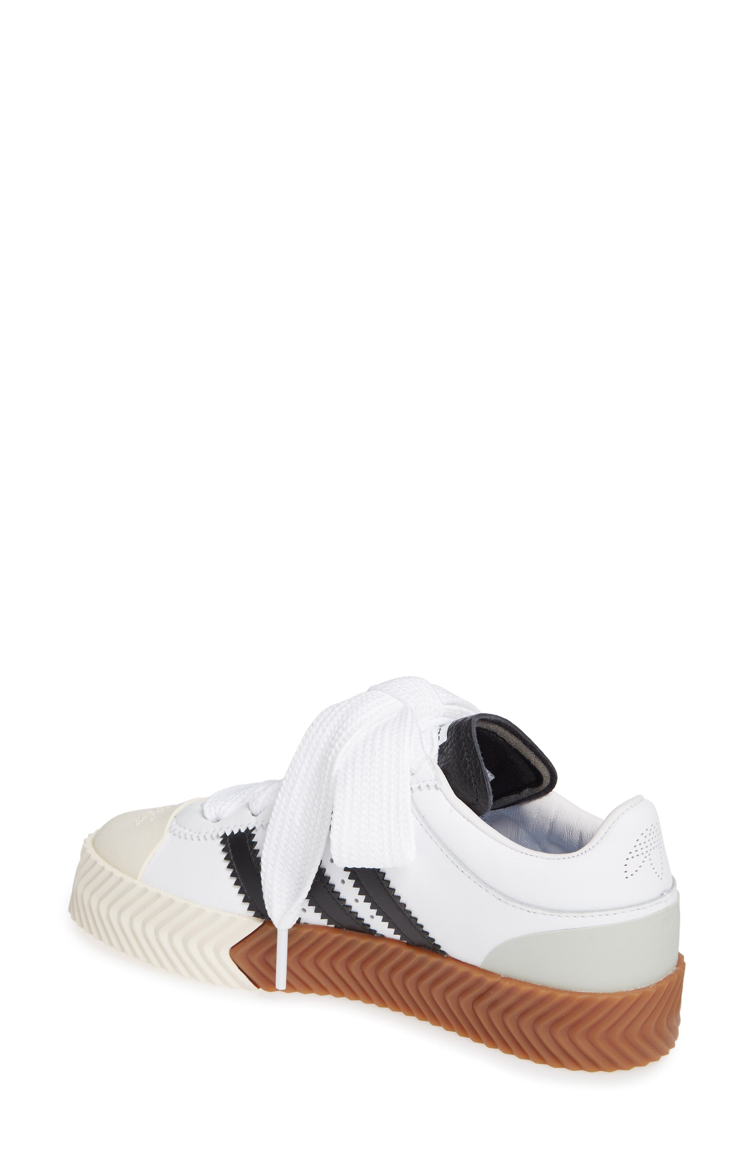 Skate Super Sneaker,                             Alternate thumbnail 2, color,                             WHITE/ BLACK/ BROWN