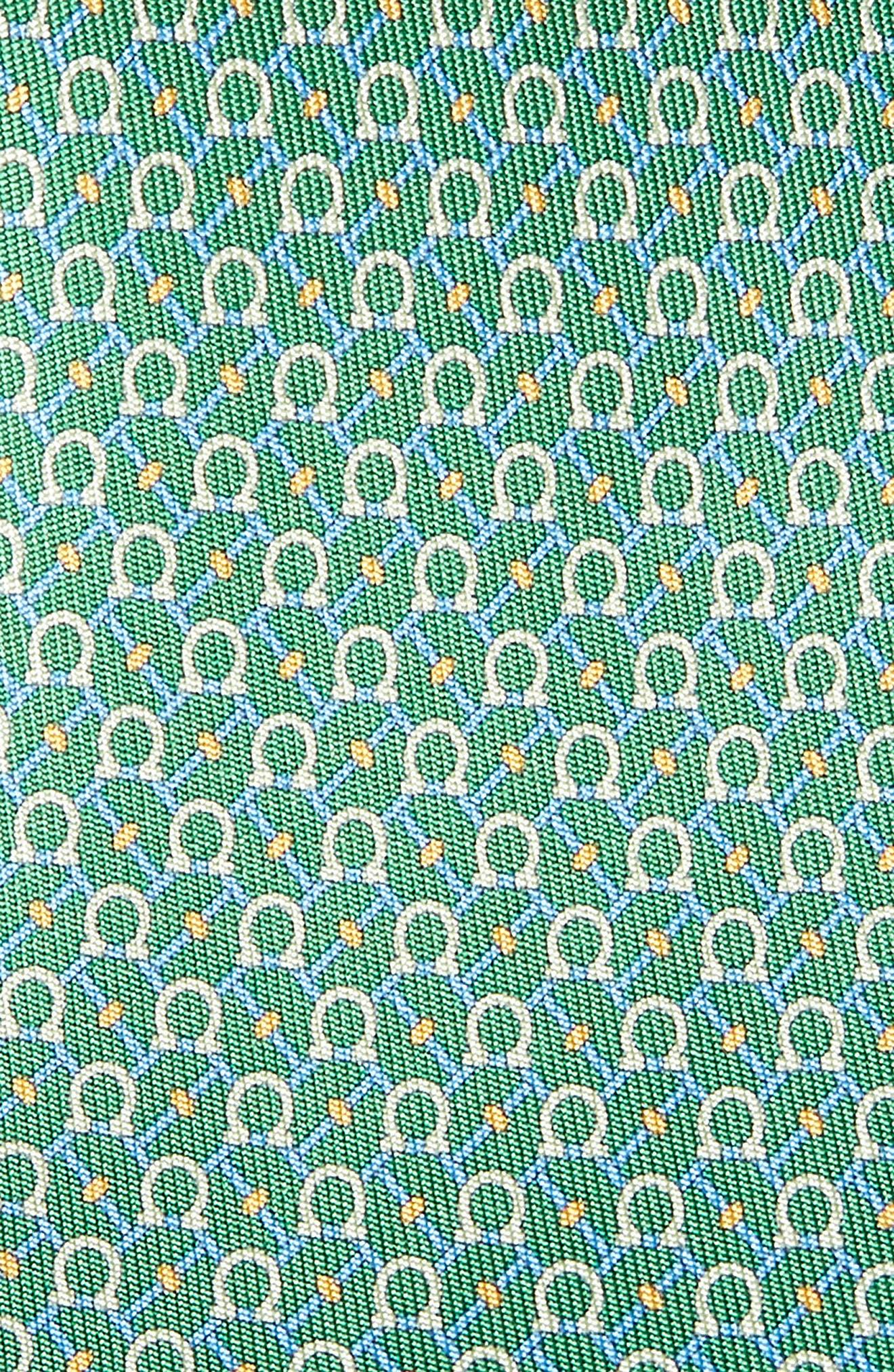 Eroe Geo Print Silk Tie,                             Alternate thumbnail 2, color,                             GREEN