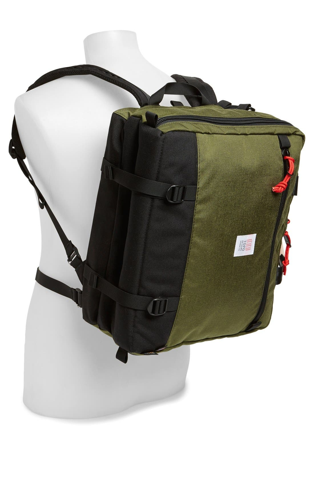 '3-Day' Briefcase,                             Alternate thumbnail 5, color,                             BLACK/ OLIVE