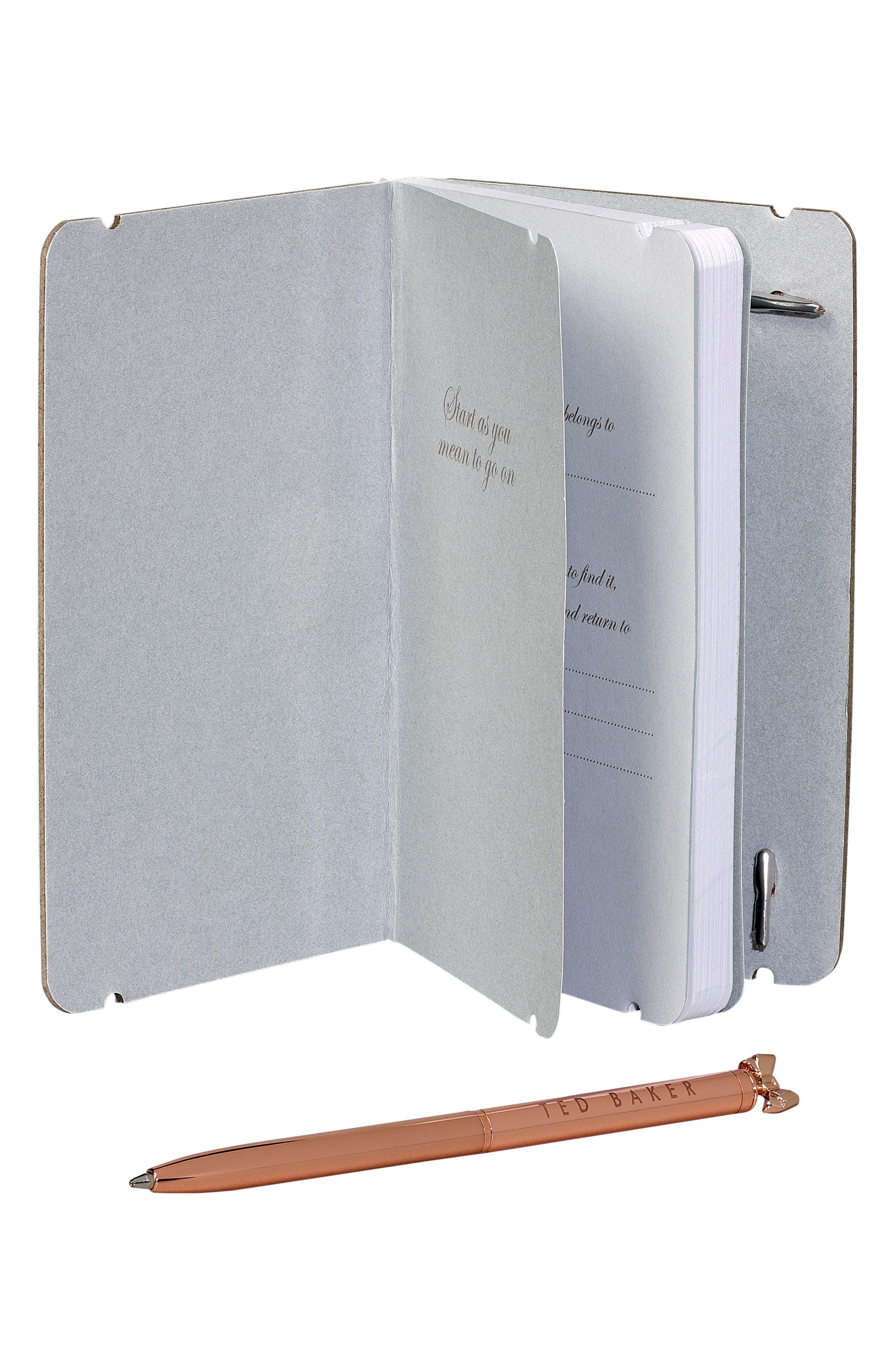 Mini Notebook & Pen Set,                             Alternate thumbnail 3, color,                             001