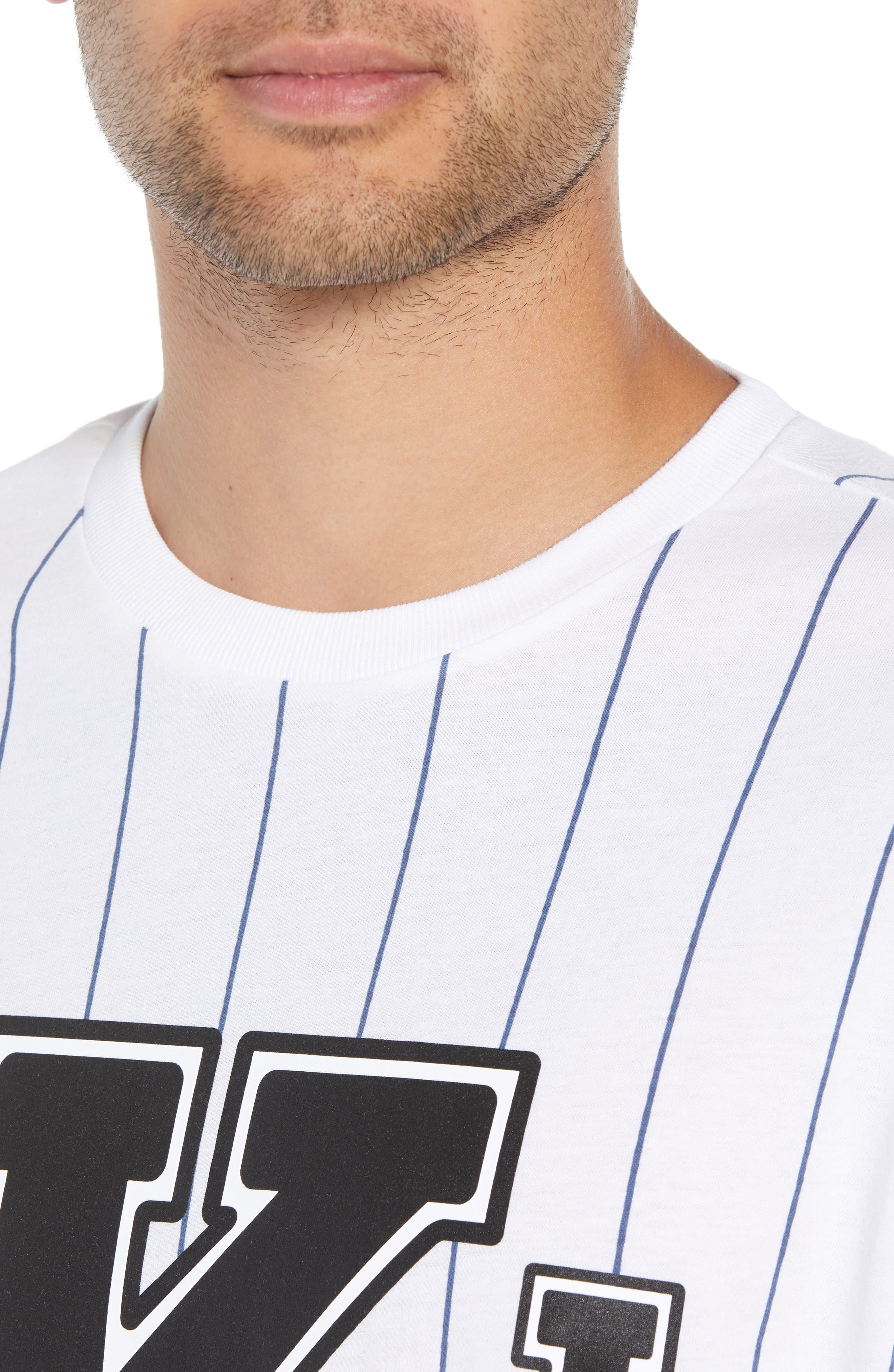 Logo Graphic Baseball T-Shirt,                             Alternate thumbnail 4, color,                             STANDARD WHITE
