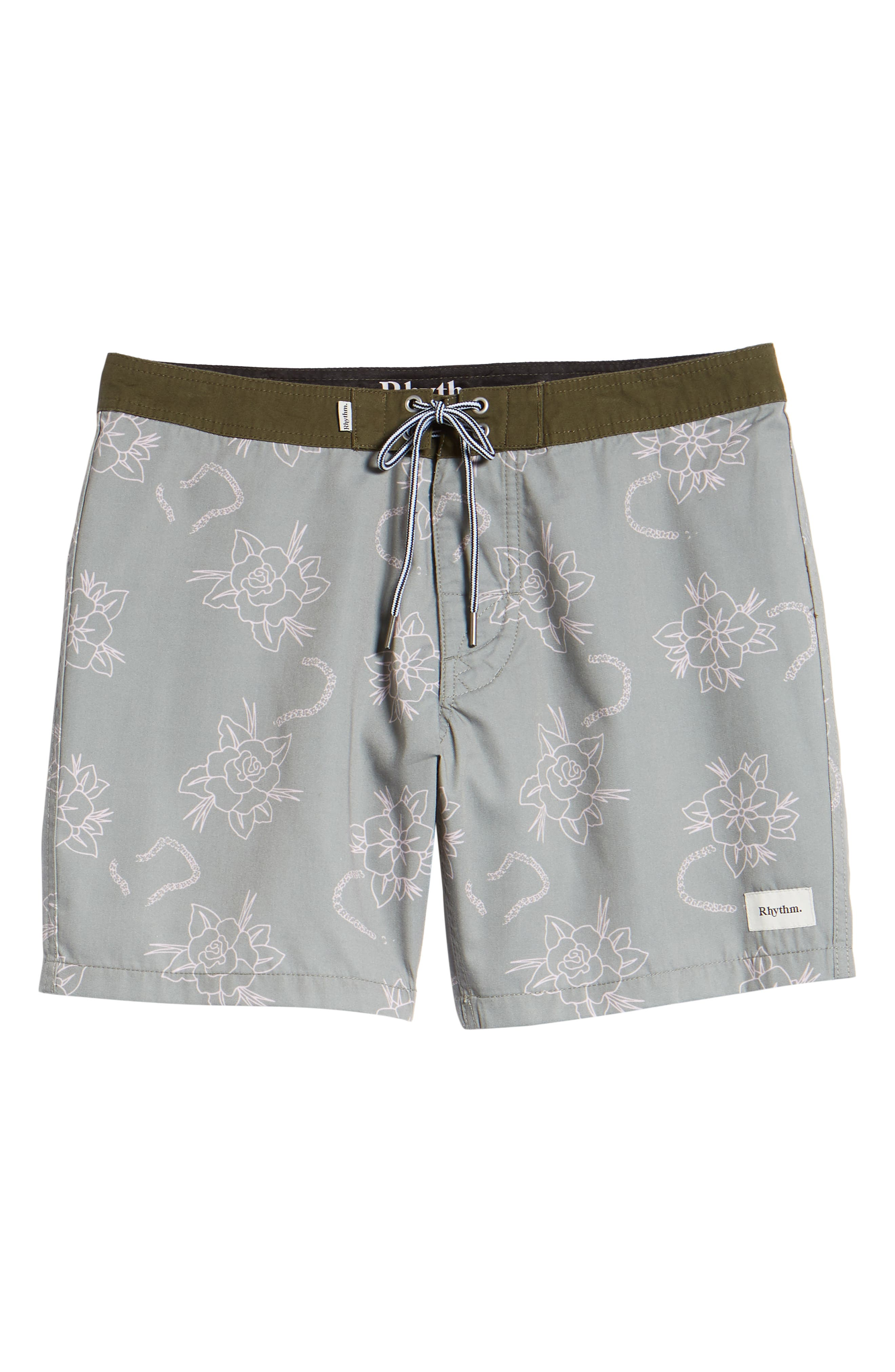 Island Swim Trunks,                             Alternate thumbnail 6, color,                             OLIVE
