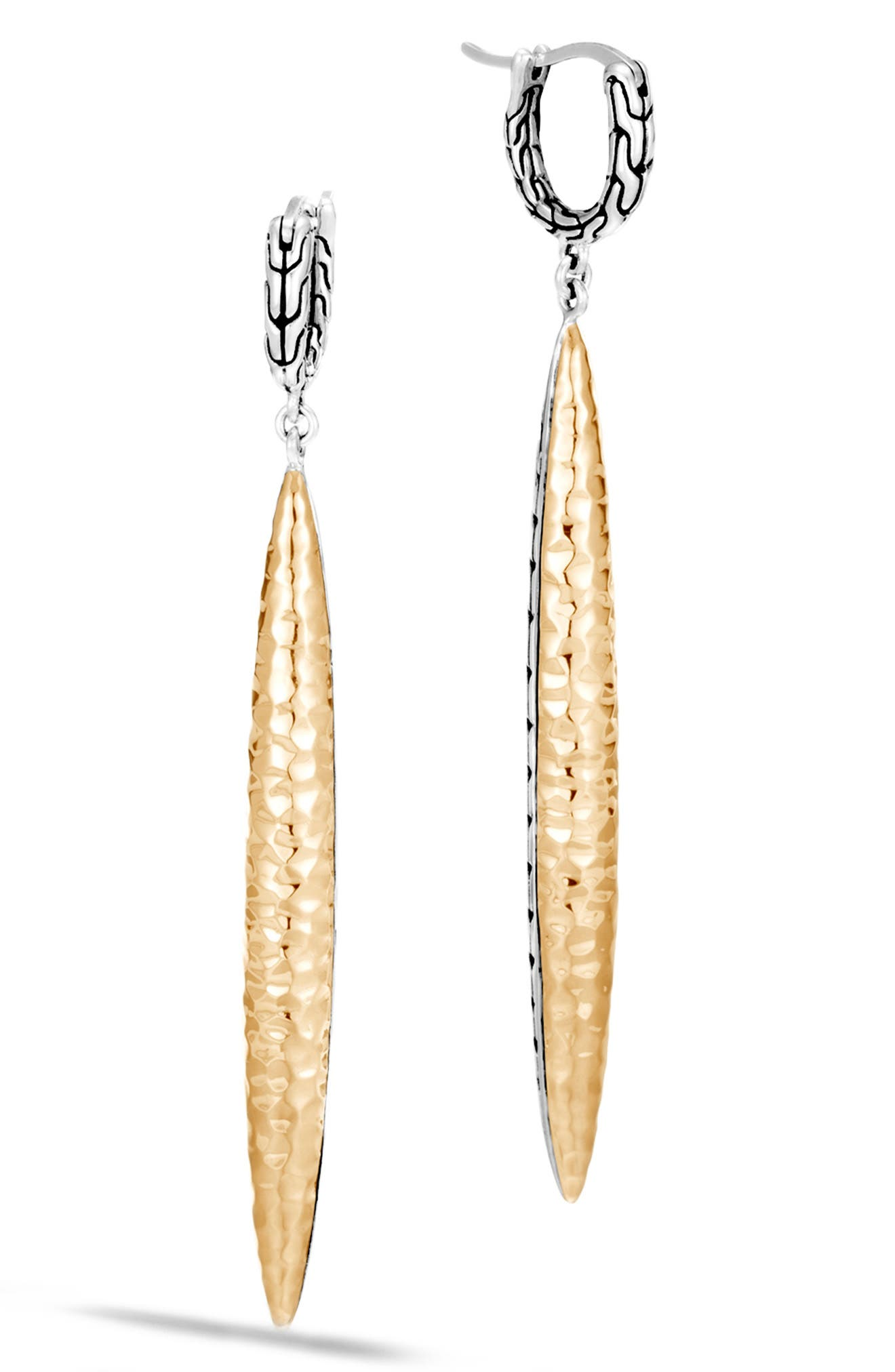 Classic Chain Drop Earrings,                             Main thumbnail 1, color,                             SILVER/ GOLD