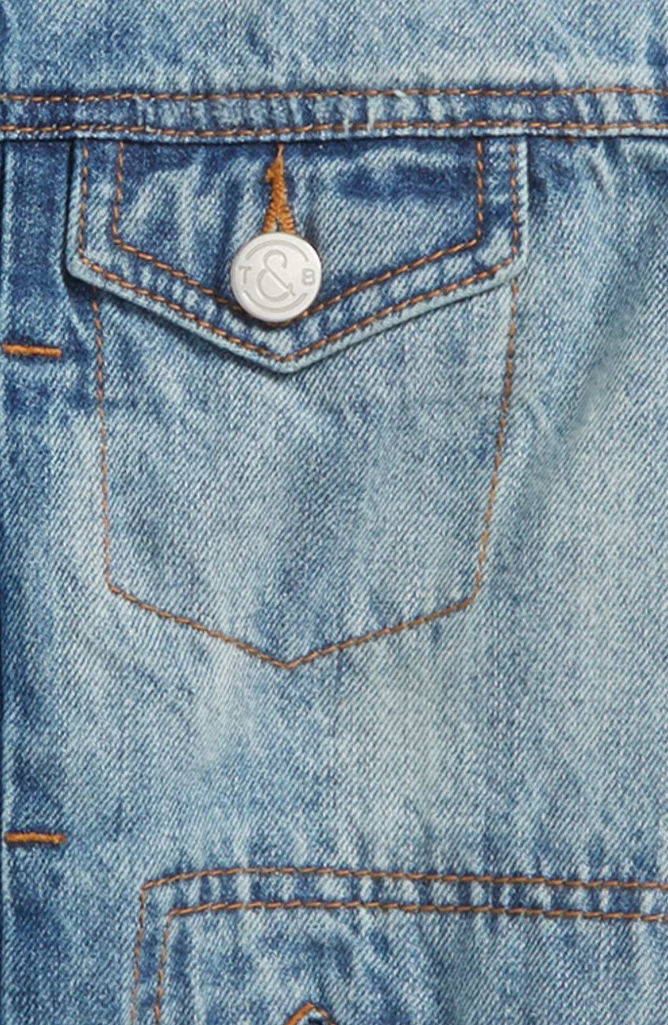 Front Zip Denim Jacket,                             Alternate thumbnail 2, color,                             420