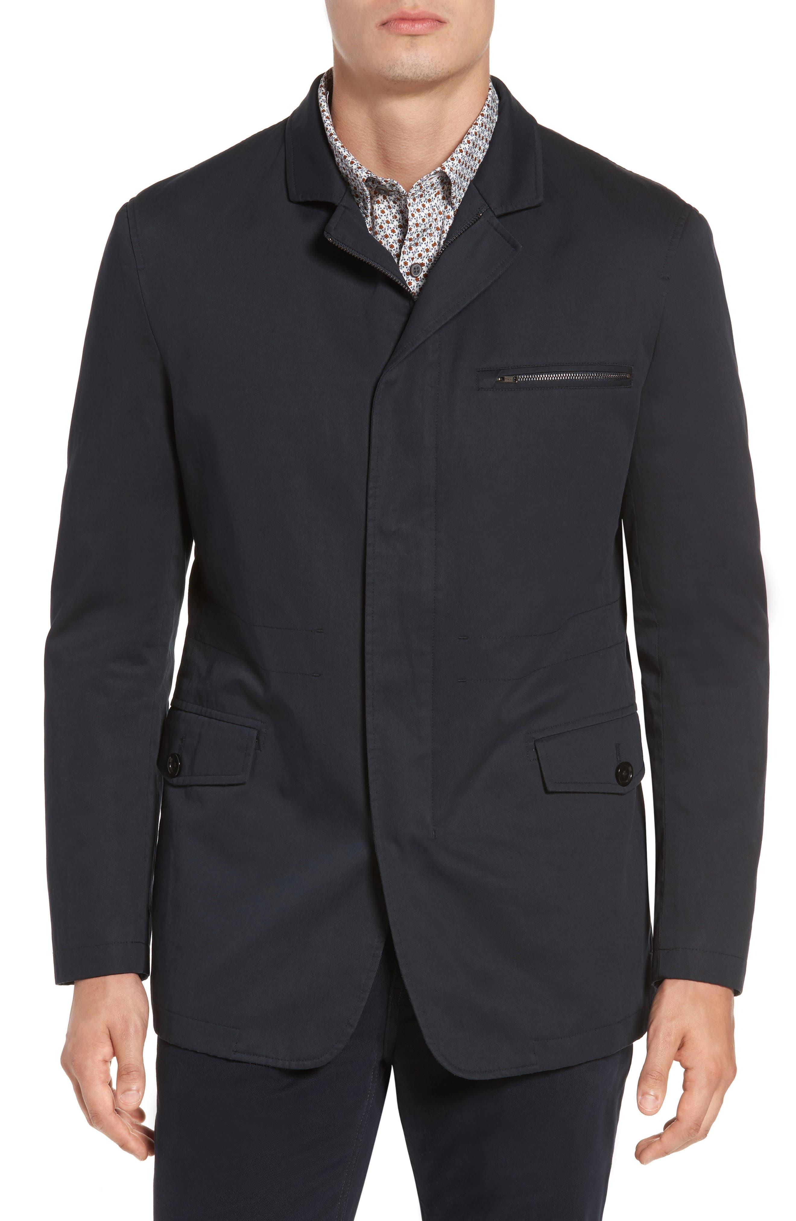 Winscombe Regular Fit Jacket,                             Main thumbnail 1, color,                             MIDNIGHT
