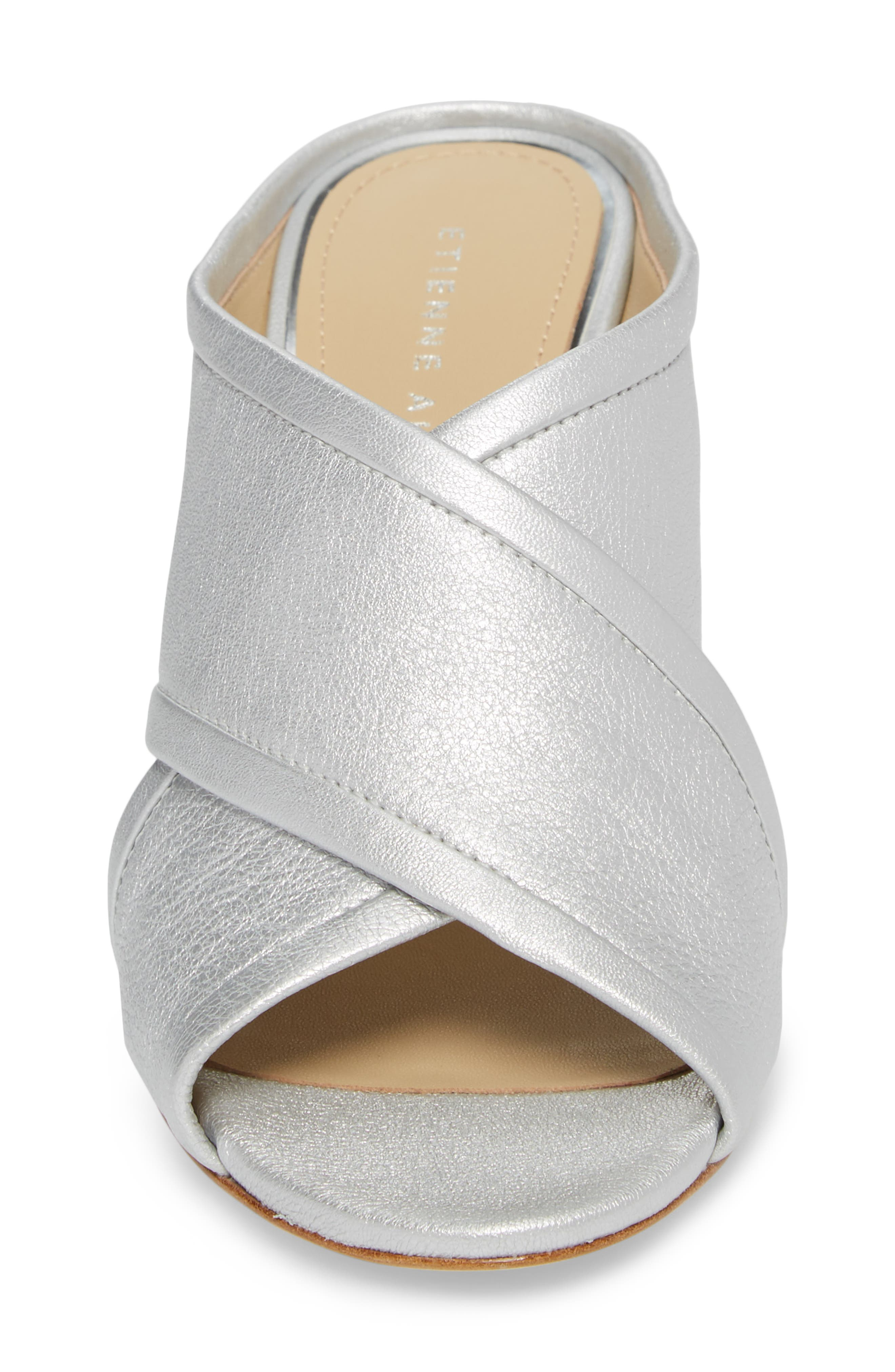 Lido Sandal,                             Alternate thumbnail 4, color,                             SILVER LEATHER