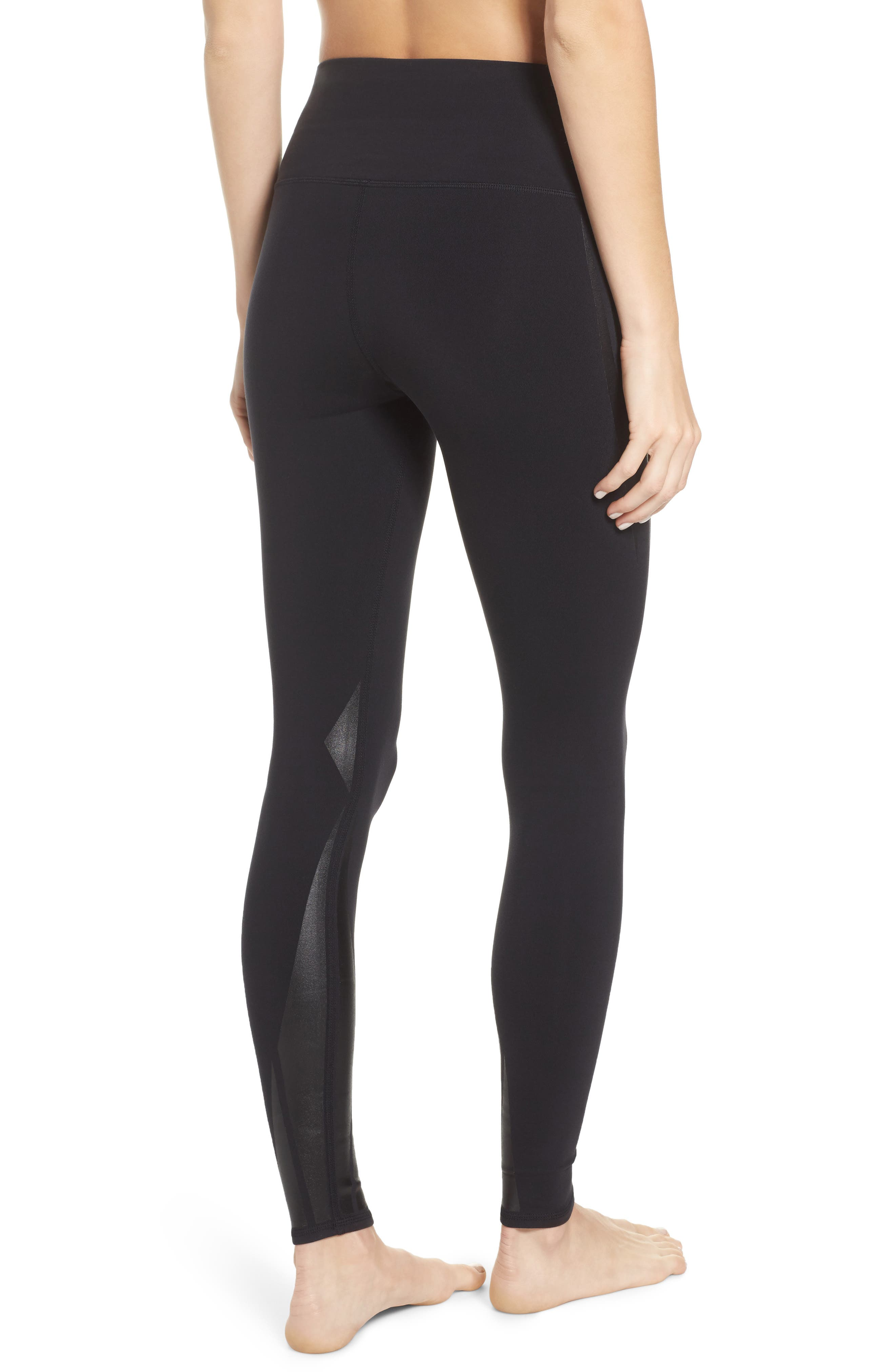 Airbrush High Waist Leggings,                             Alternate thumbnail 2, color,                             011