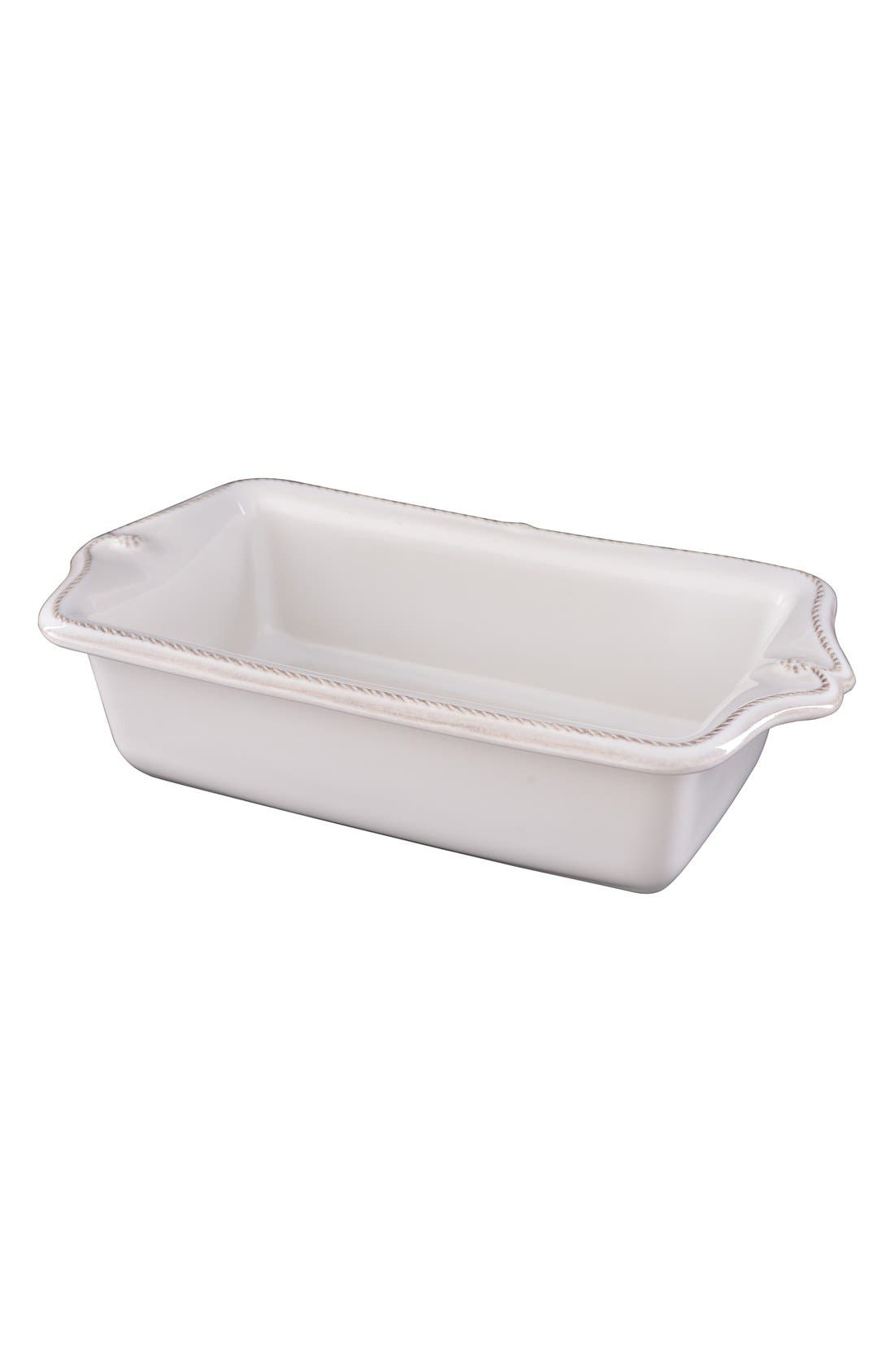 'Berry and Thread' Ceramic Loaf Pan,                         Main,                         color, WHITEWASH