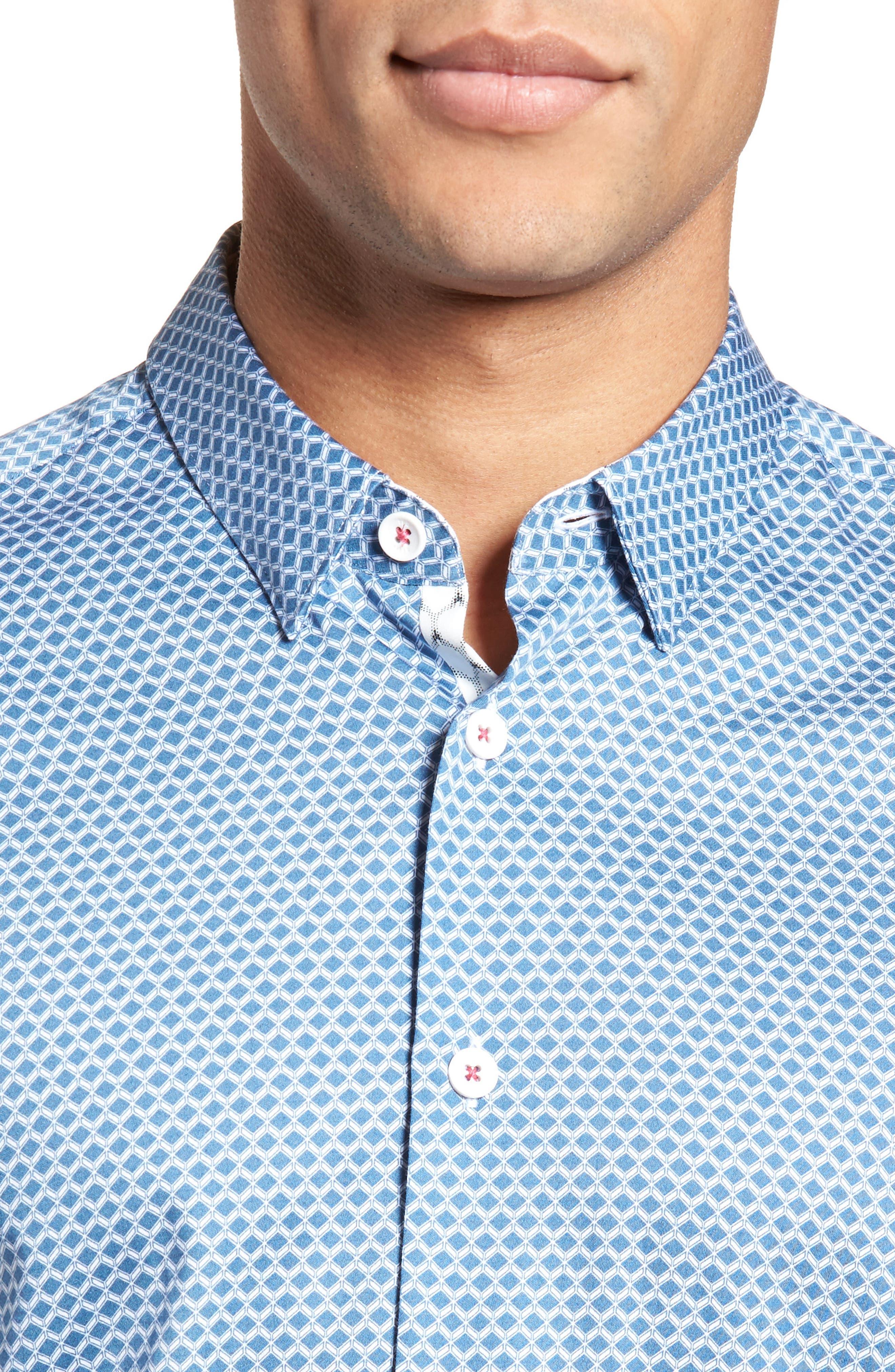 Gudvutt Short Sleeve Sport Shirt,                             Alternate thumbnail 4, color,                             400