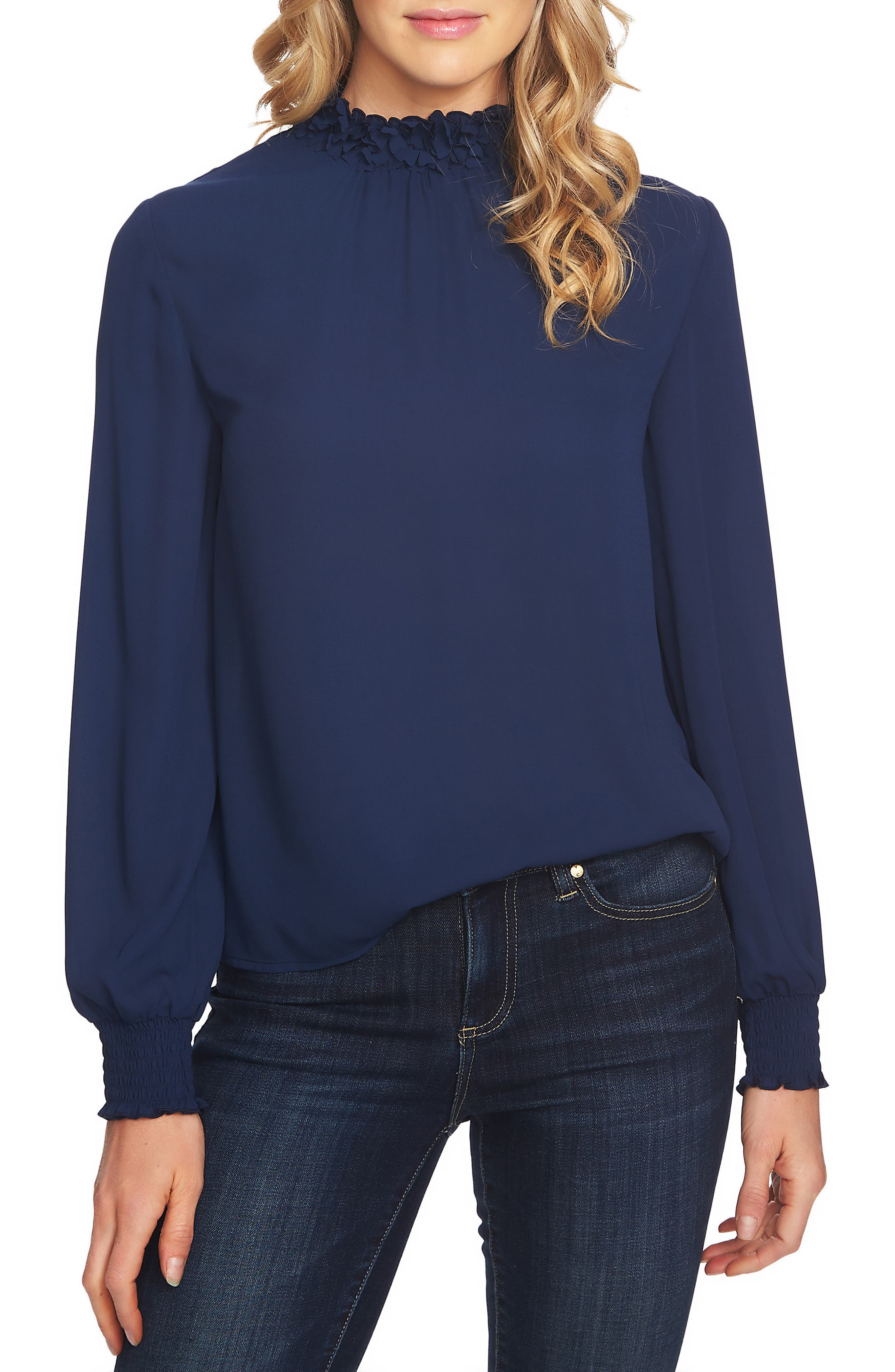 Embellished High Neck Top,                             Main thumbnail 1, color,                             400