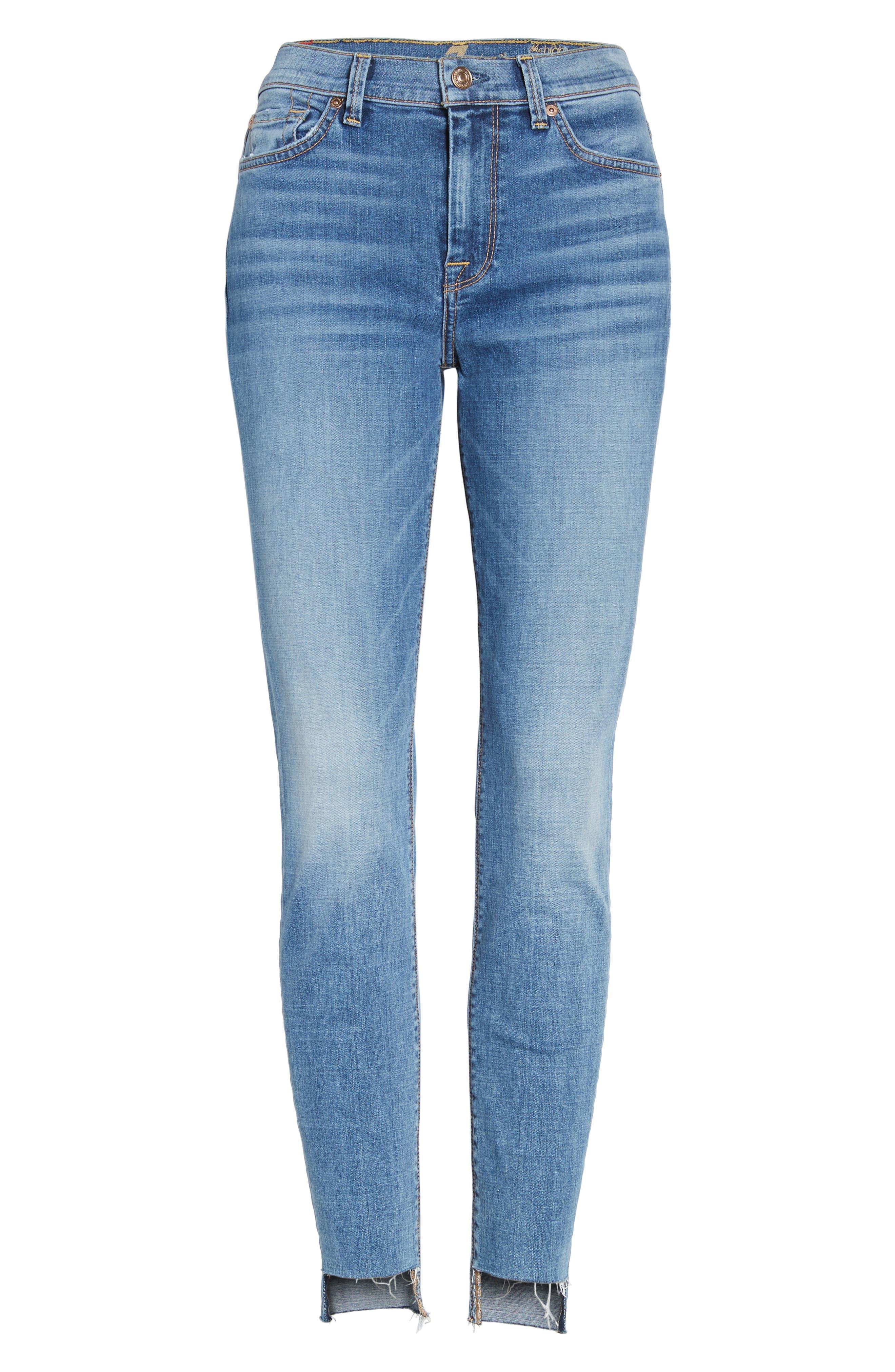 Step Hem Ankle Skinny Jeans,                             Alternate thumbnail 6, color,                             400