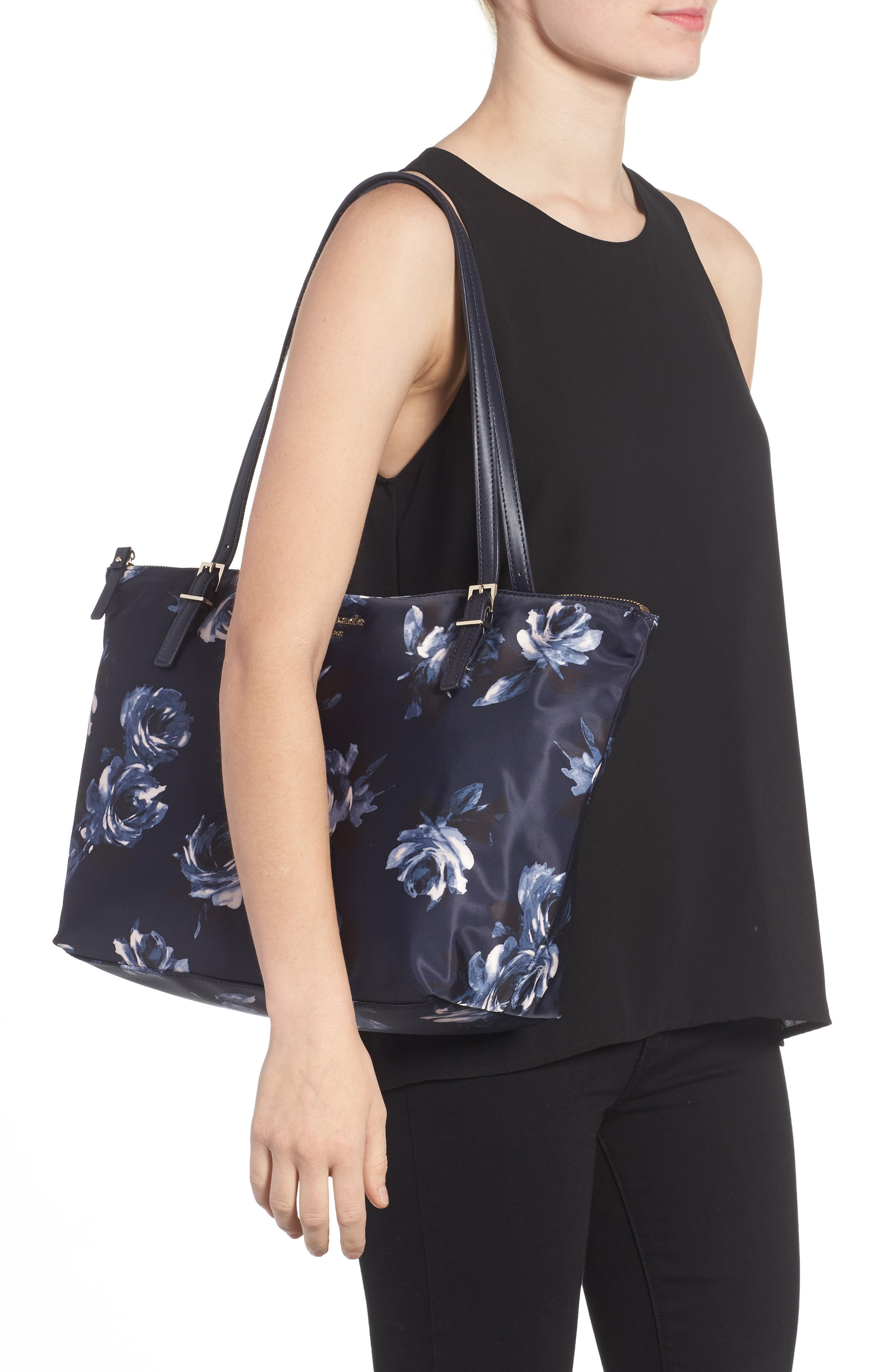 watson lane - night rose maya tote,                             Alternate thumbnail 2, color,                             485