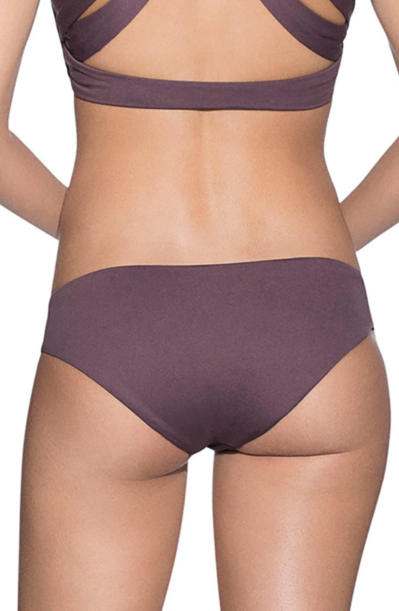 Fig Sublime Signature Cut Reversible Bikini Bottoms,                             Alternate thumbnail 3, color,