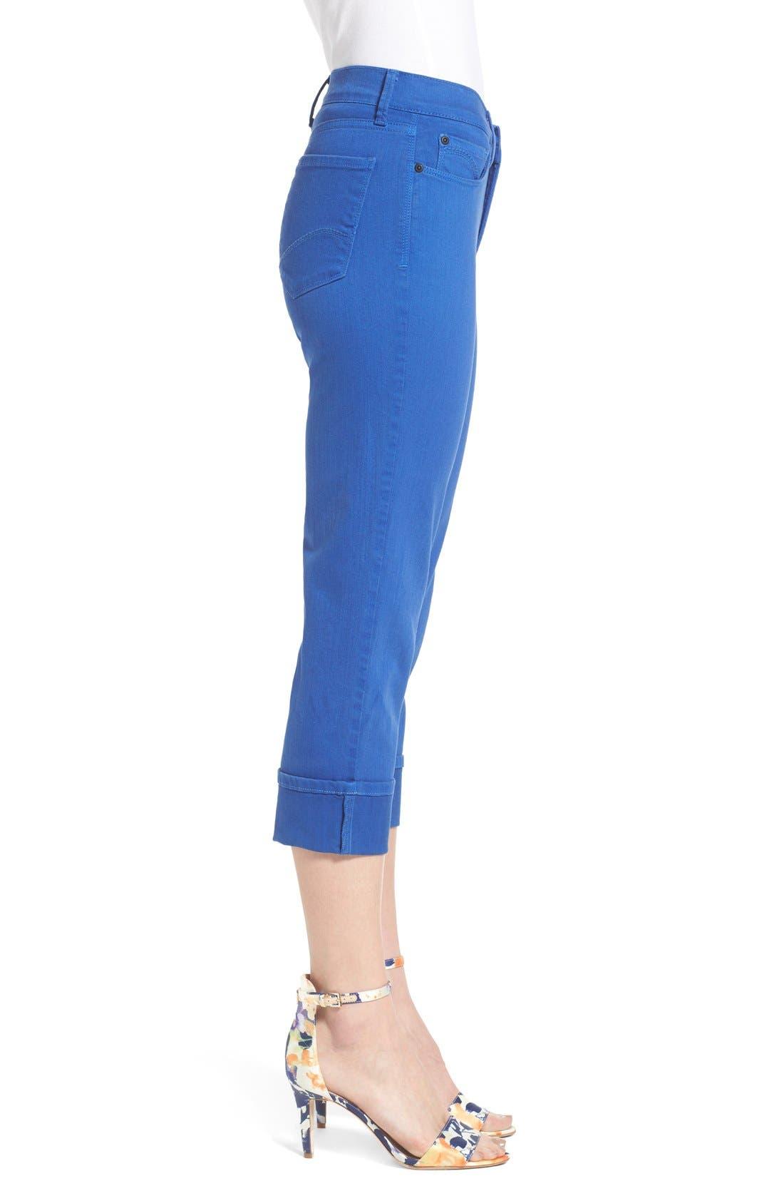 'Dayla' Colored Wide Cuff Capri Jeans,                             Alternate thumbnail 65, color,