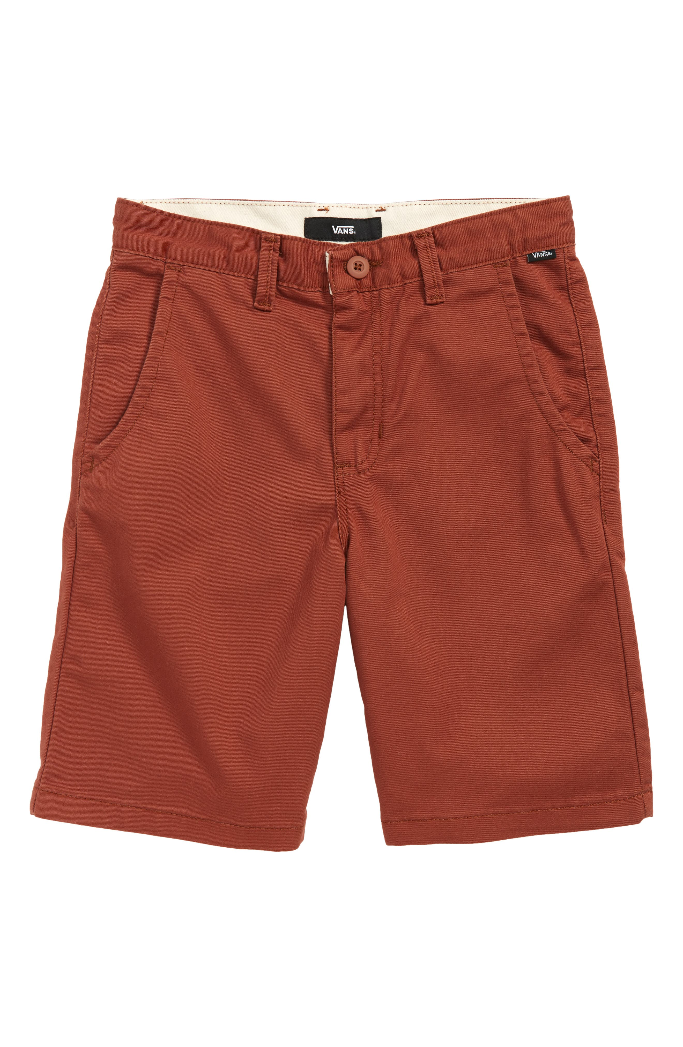 Authentic Stretch Twill Shorts,                         Main,                         color, SEQUOIA