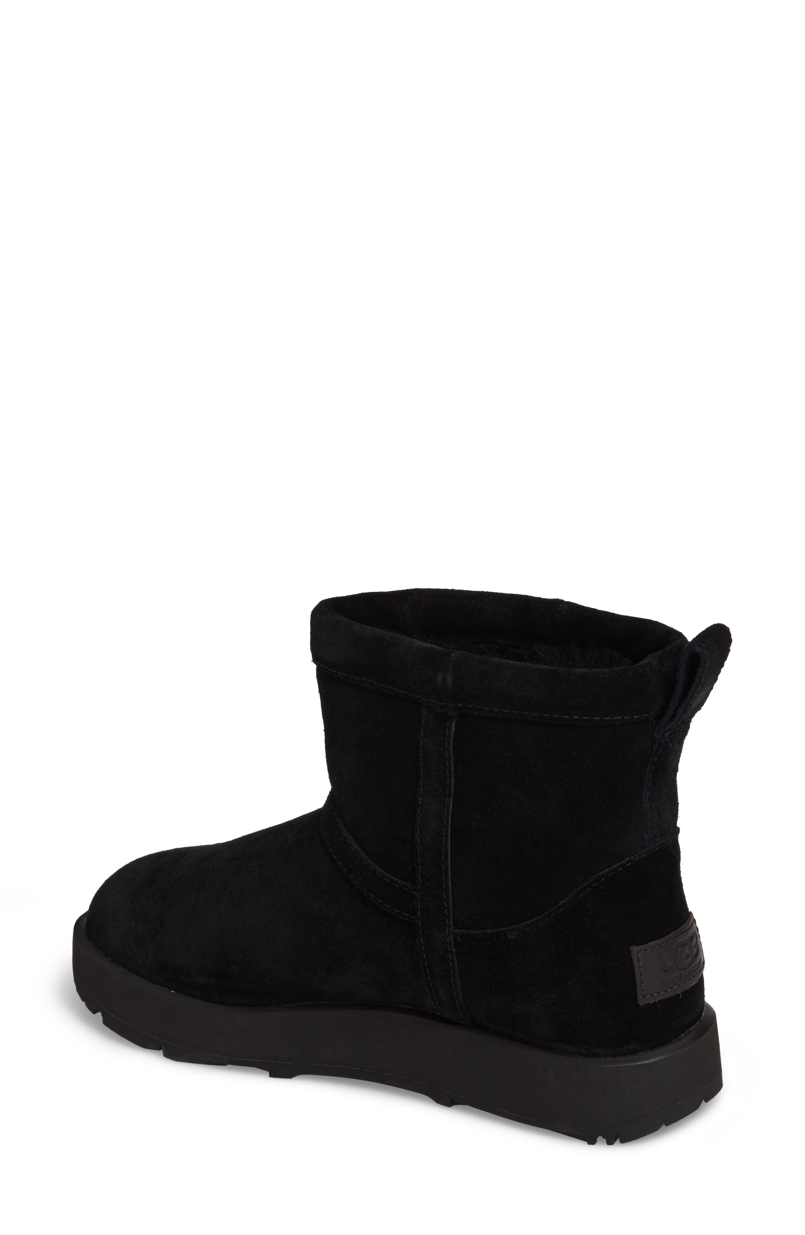 UGG<SUP>®</SUP>,                             Classic Mini Waterproof Boot,                             Alternate thumbnail 2, color,                             BLACK SUEDE