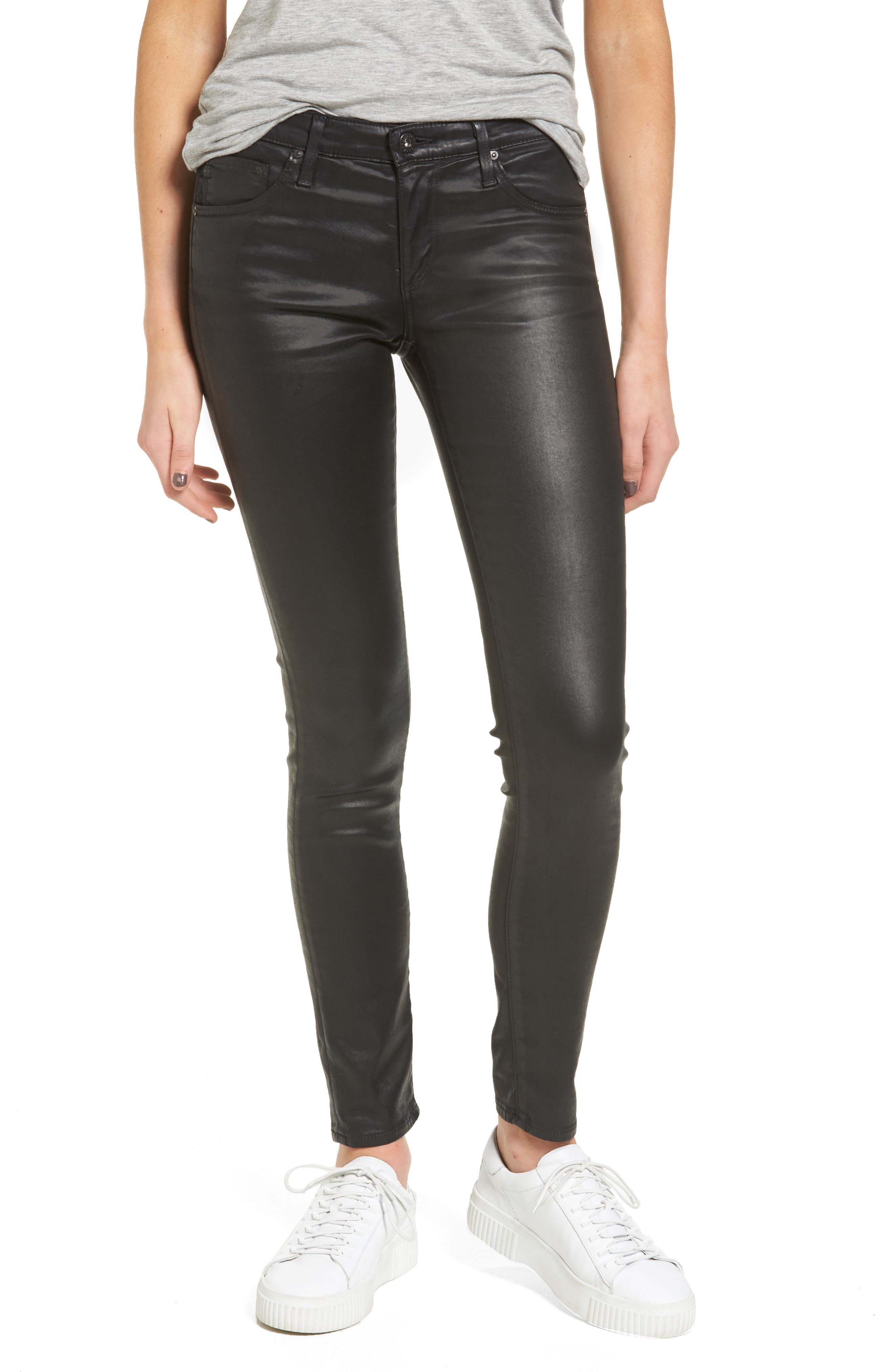 The Legging Ankle Jeans,                             Main thumbnail 1, color,                             LEATHERETTE SUPER BLACK