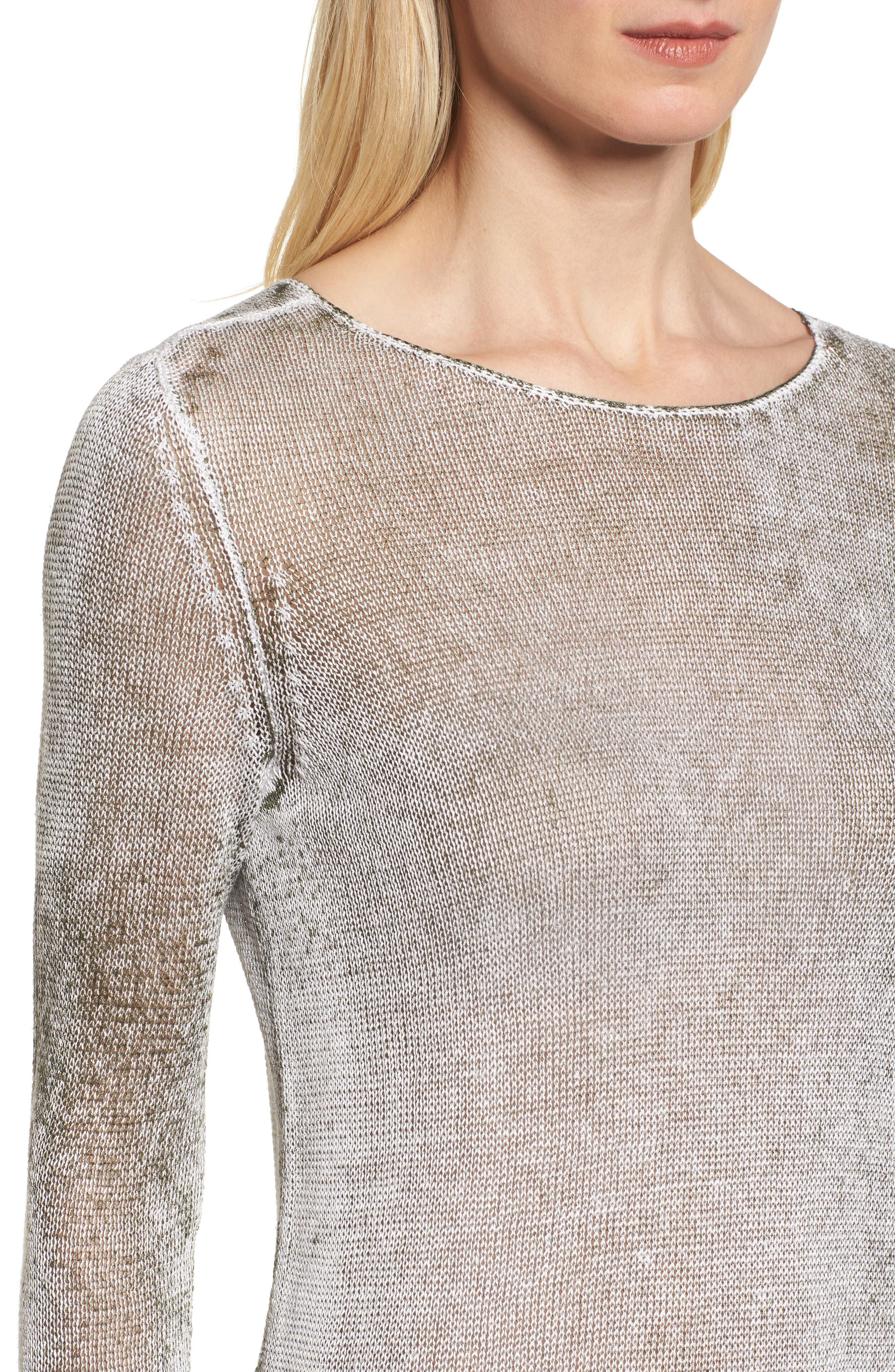 NIC + ZOE Poolside Linen Blend Sweater,                             Alternate thumbnail 14, color,
