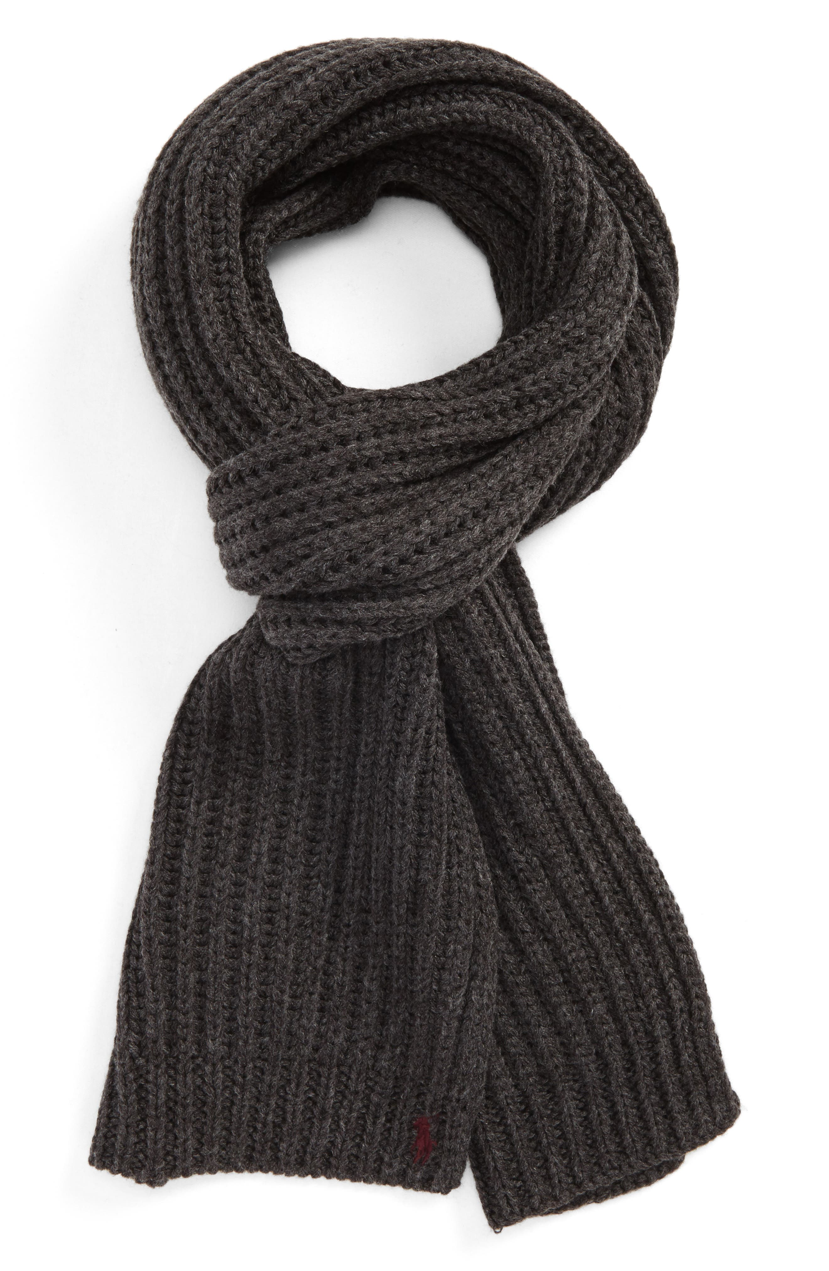 Chunky Rib Knit Scarf,                             Main thumbnail 2, color,