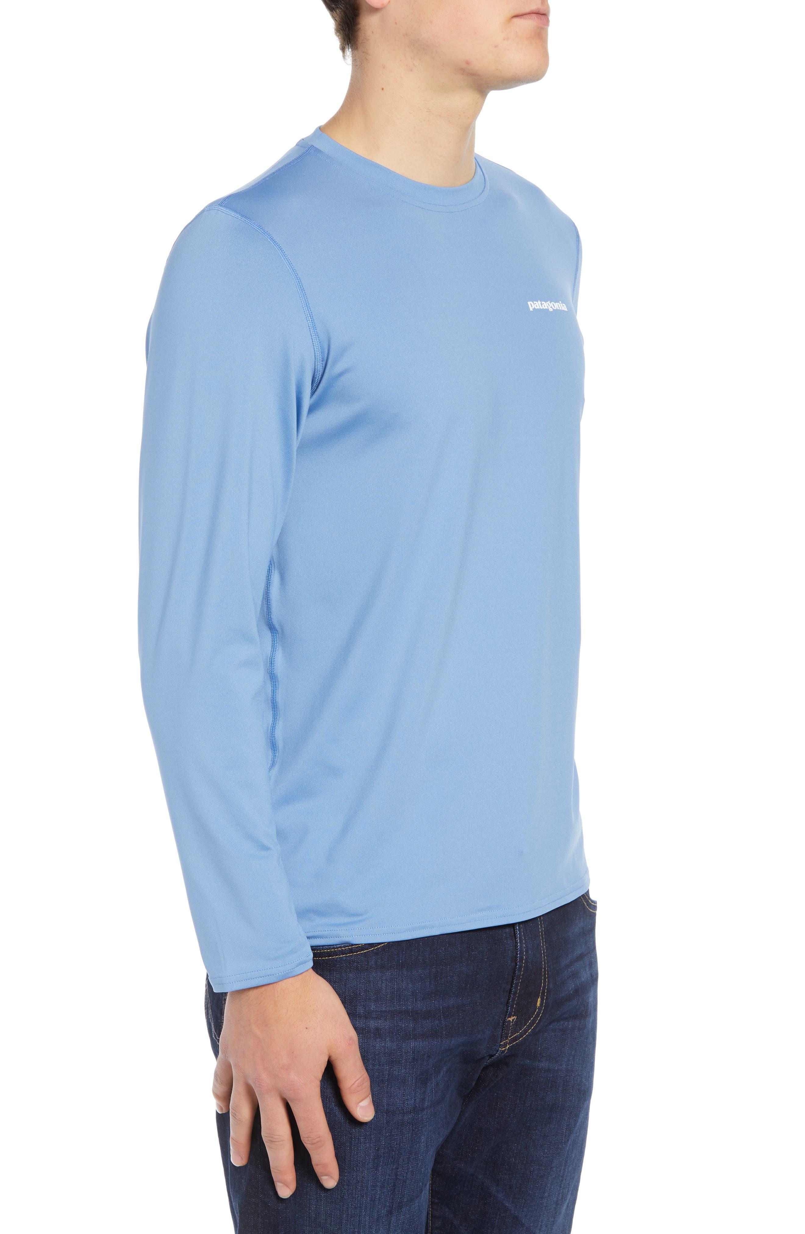 RØ<sup>®</sup> Sun Long Sleeve T-Shirt,                             Alternate thumbnail 3, color,                             BOARDSHORT LOGO/ RAILROAD BLUE