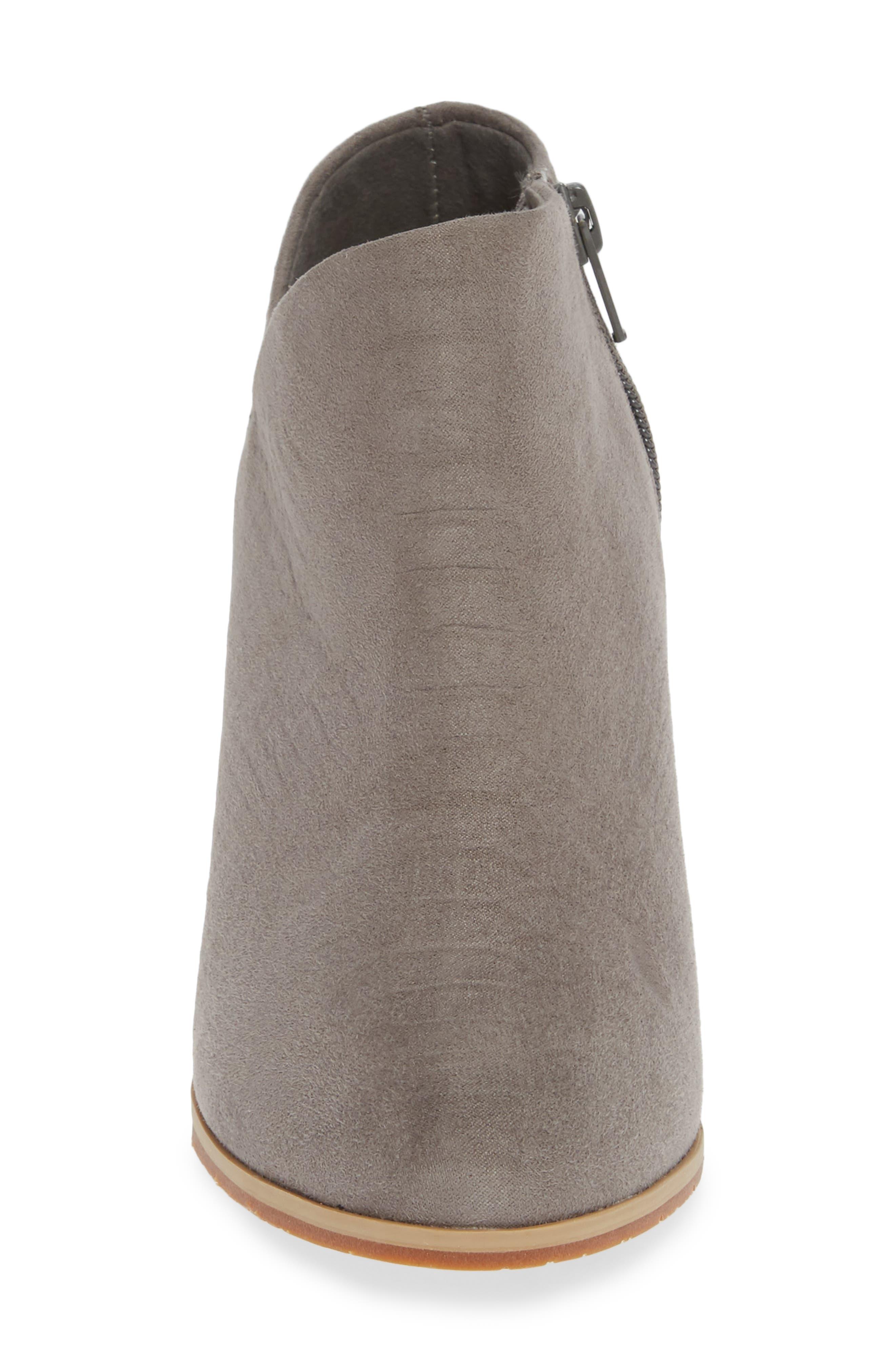 BC FOOTWEAR,                             Kettle Block Heel Bootie,                             Alternate thumbnail 4, color,                             GREY VEGAN SUEDE