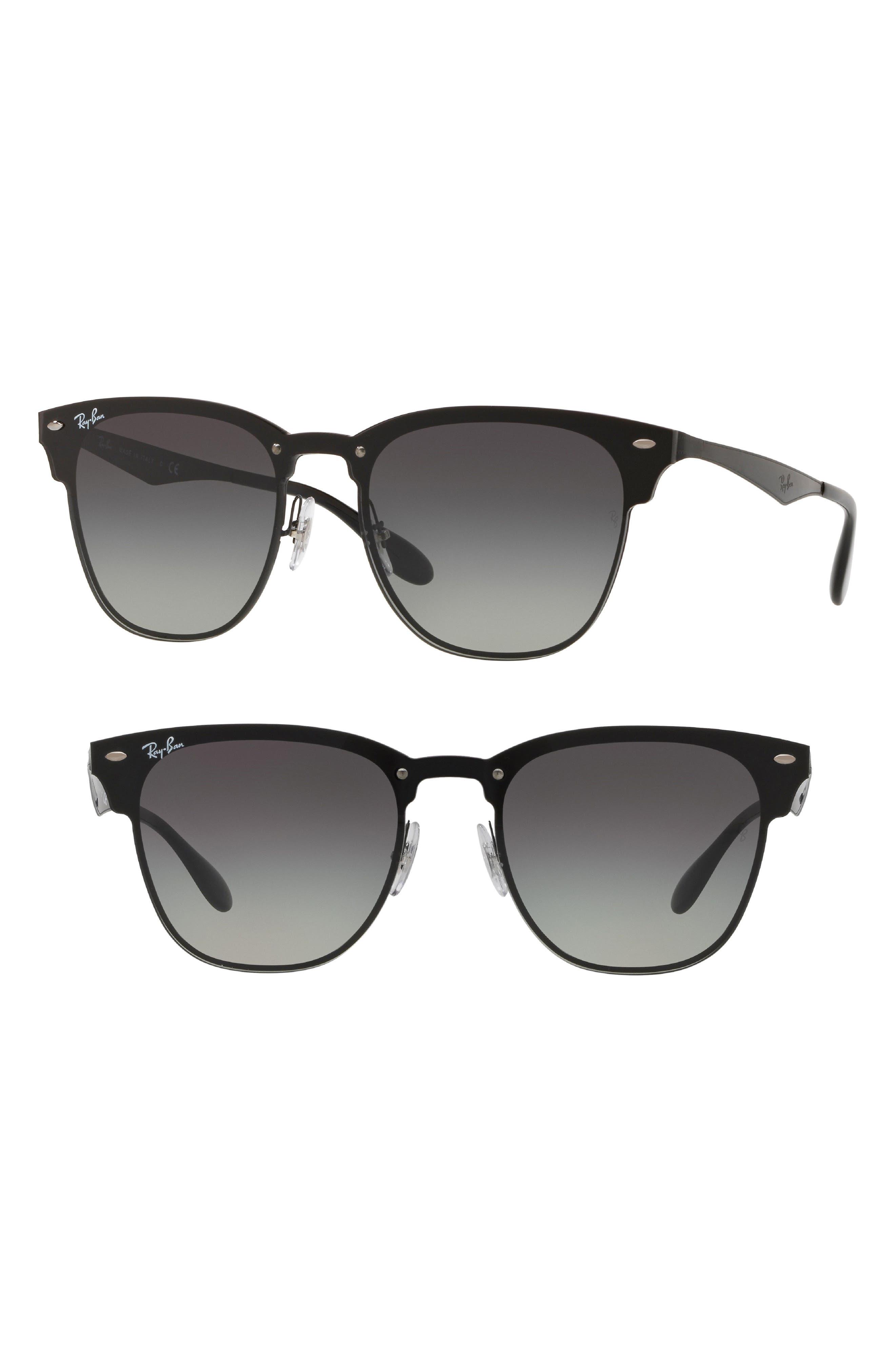 Ray-Ban Blaze Clubmaster 50Mm Sunglasses - Black