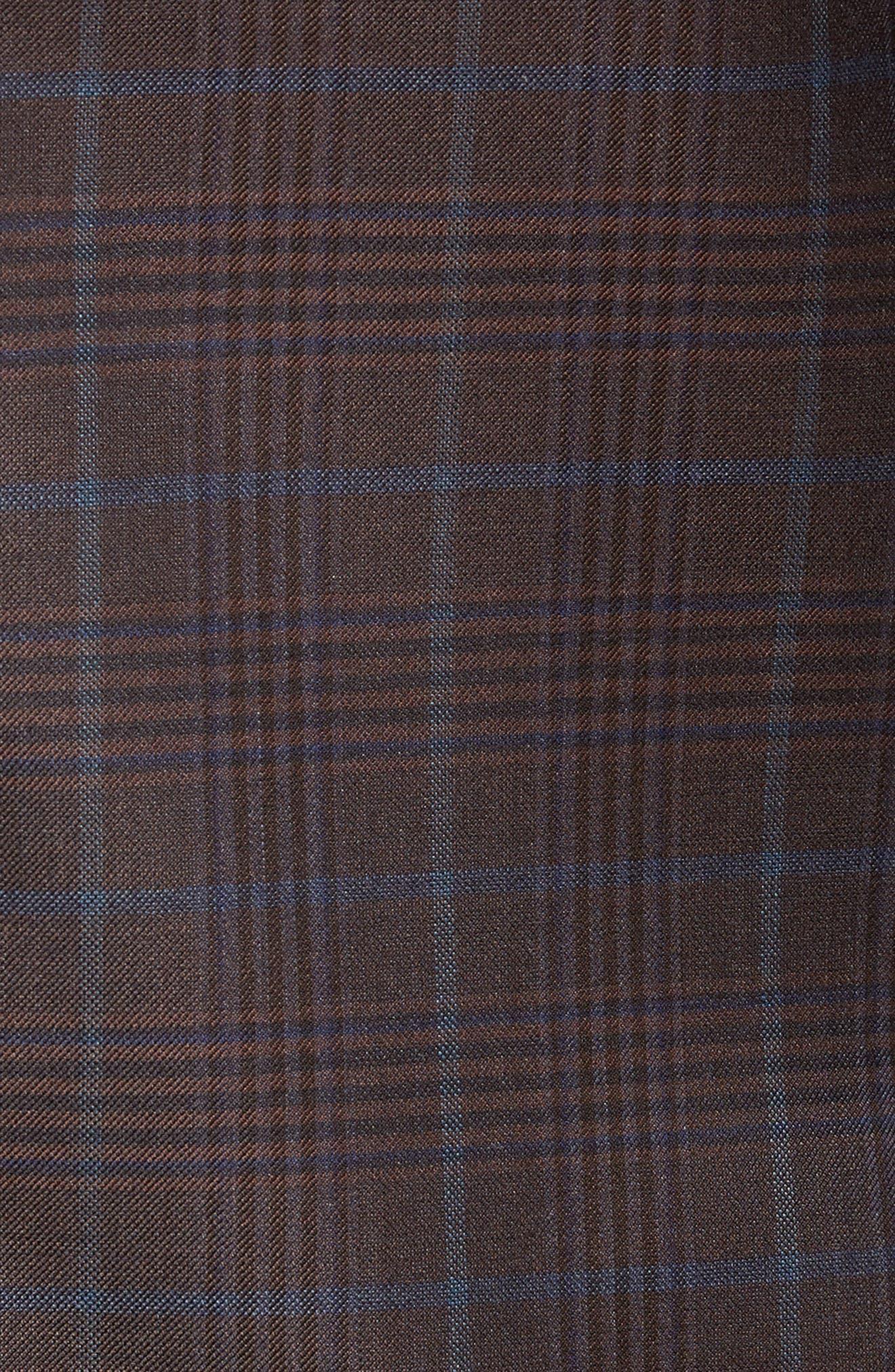 Regular Fit Super 130's Wool Blazer,                             Alternate thumbnail 6, color,                             BROWN